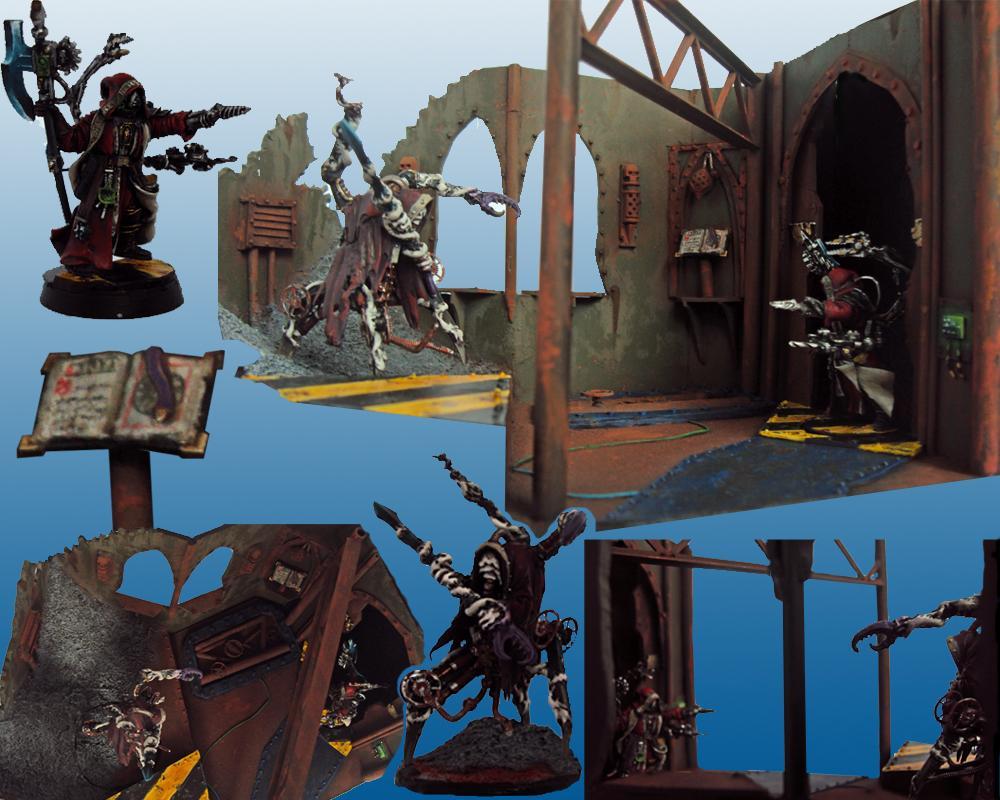 Adeptus Mechanicus, Dakka Painting Challenge, Dark Mechanicus, Duel, Warhammer 40,000, Welcome To Thunderdome