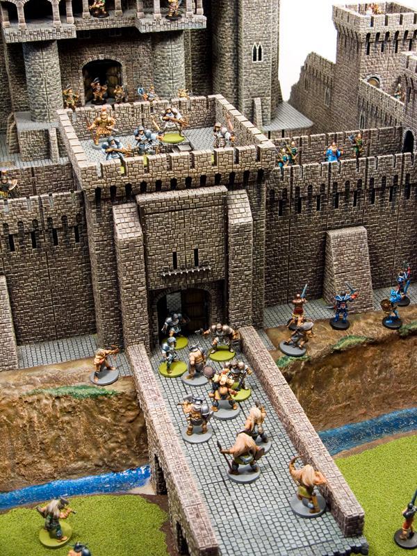 28mm, Castle, Castle Craft, Fortress, Plastic