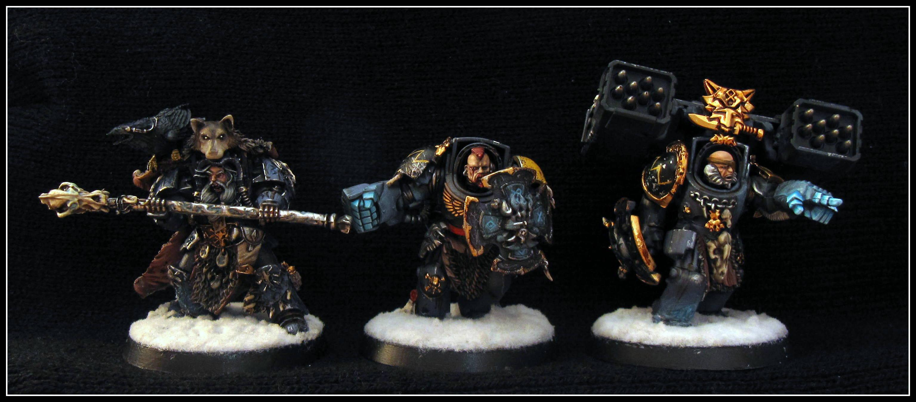Battle Damage, Detail, Forge World, Glow, Power Weapon, Skin, Snow, Space Marines, Space Wolves, Teeth, Terminator Armor, Warhammer 40,000, Weathered