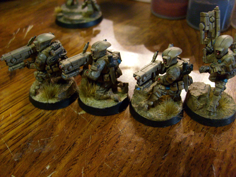 Base, Crisis Battlesuit, Desert, Mesa, Pathfinders, Resin, Secret Weapon, Tau, Warhammer 40,000, Xv-8