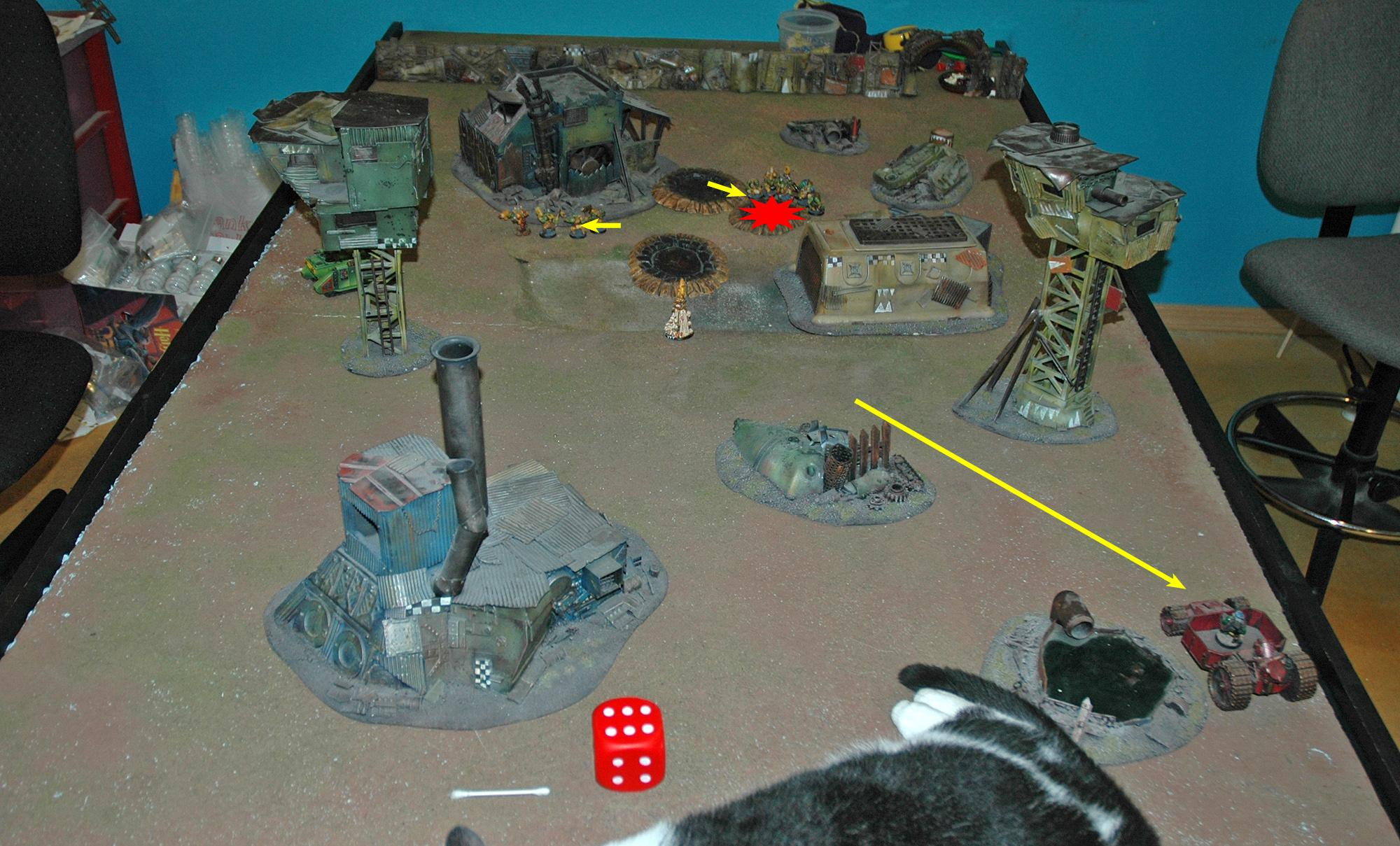 1000 Points, Bad Moons, Battle Report, Blood Angels, Mantis Warriors, Orks, Space Marines, Warhammer 40,000