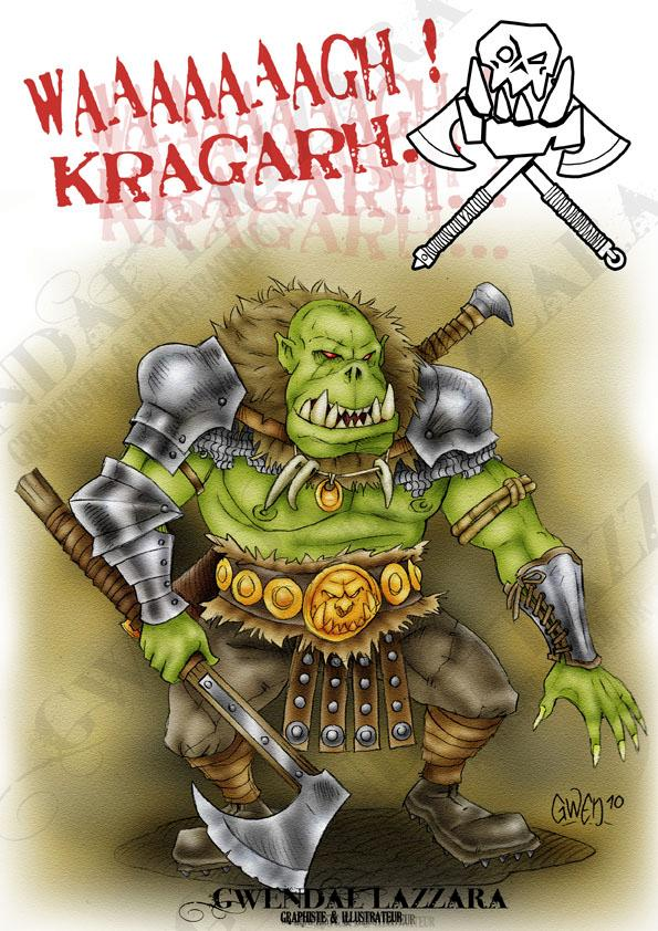 Orc Warrior, Orcs And Gobelins, Warhammer Battle