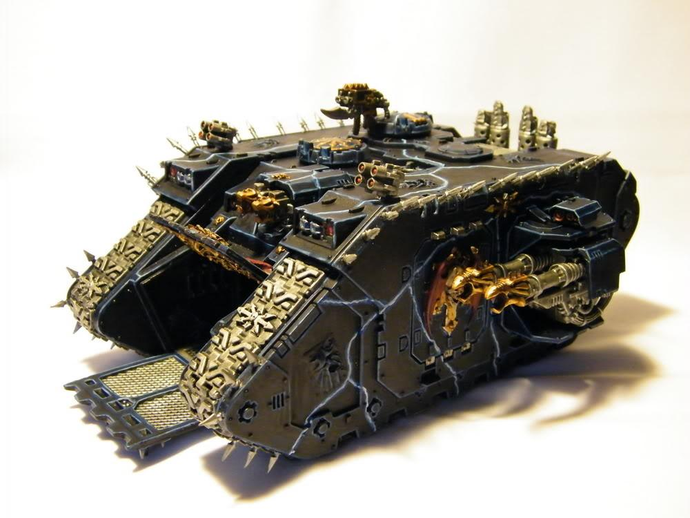 Chaos, Chaos Space Marines, Land Raider, Night Lords, Space Marines