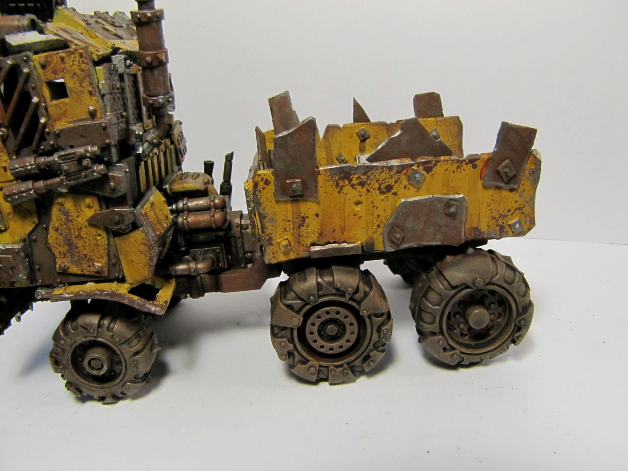 Bad Moonz, Dirt, Dirty, Orks, Orktimus Prime, Ramshackle, Rust, Rusty, Sponge Weathering, Trukk, Weathered, Yellow