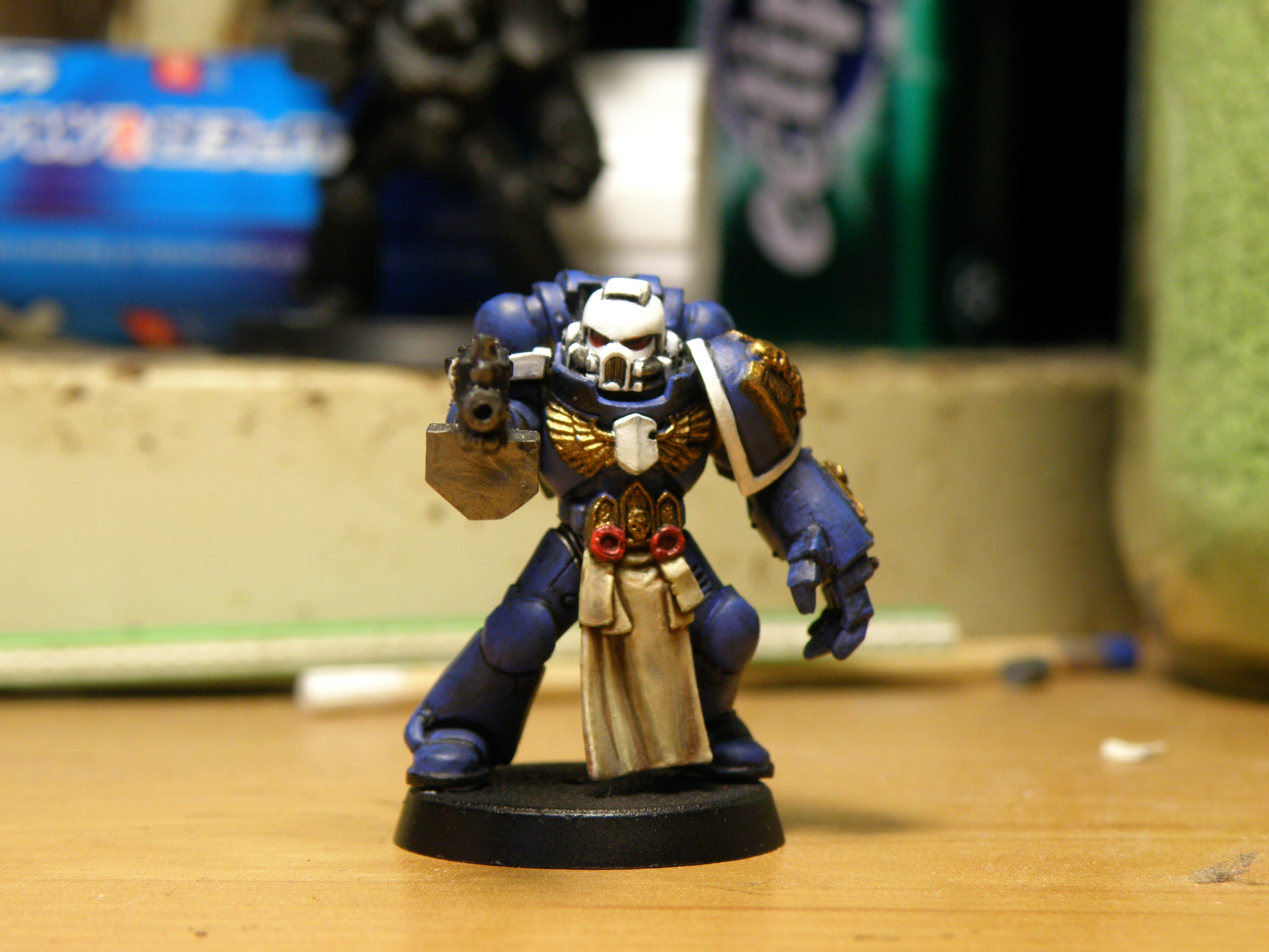 1st, 1st Company, Blue, Conversion, Cool, Fist, Power, Power Fist, Space Marines, Sternguard, Tabard, Ultramarines, White