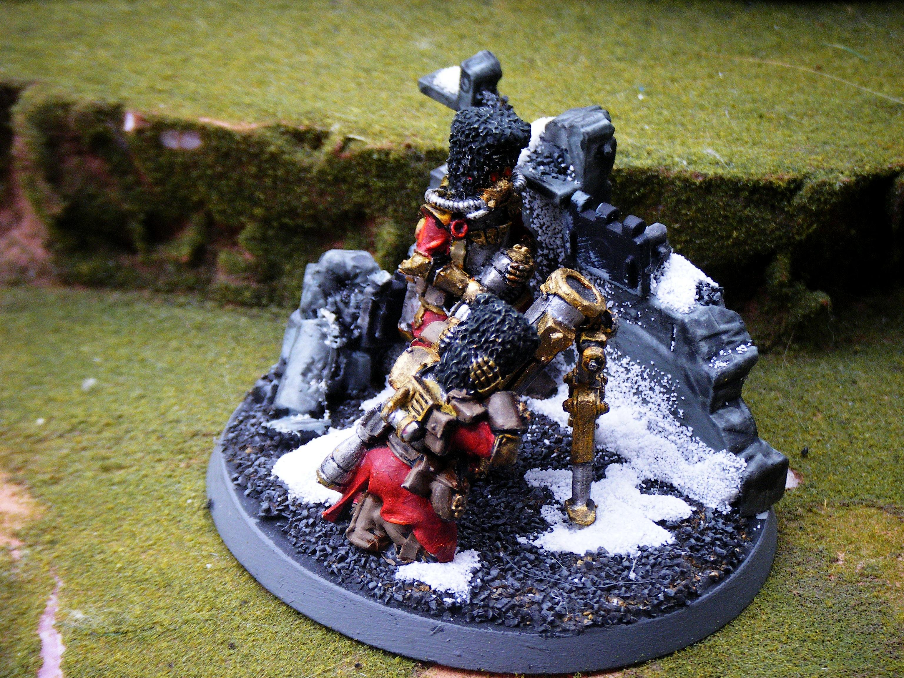 Imperial Guard, mortar team side
