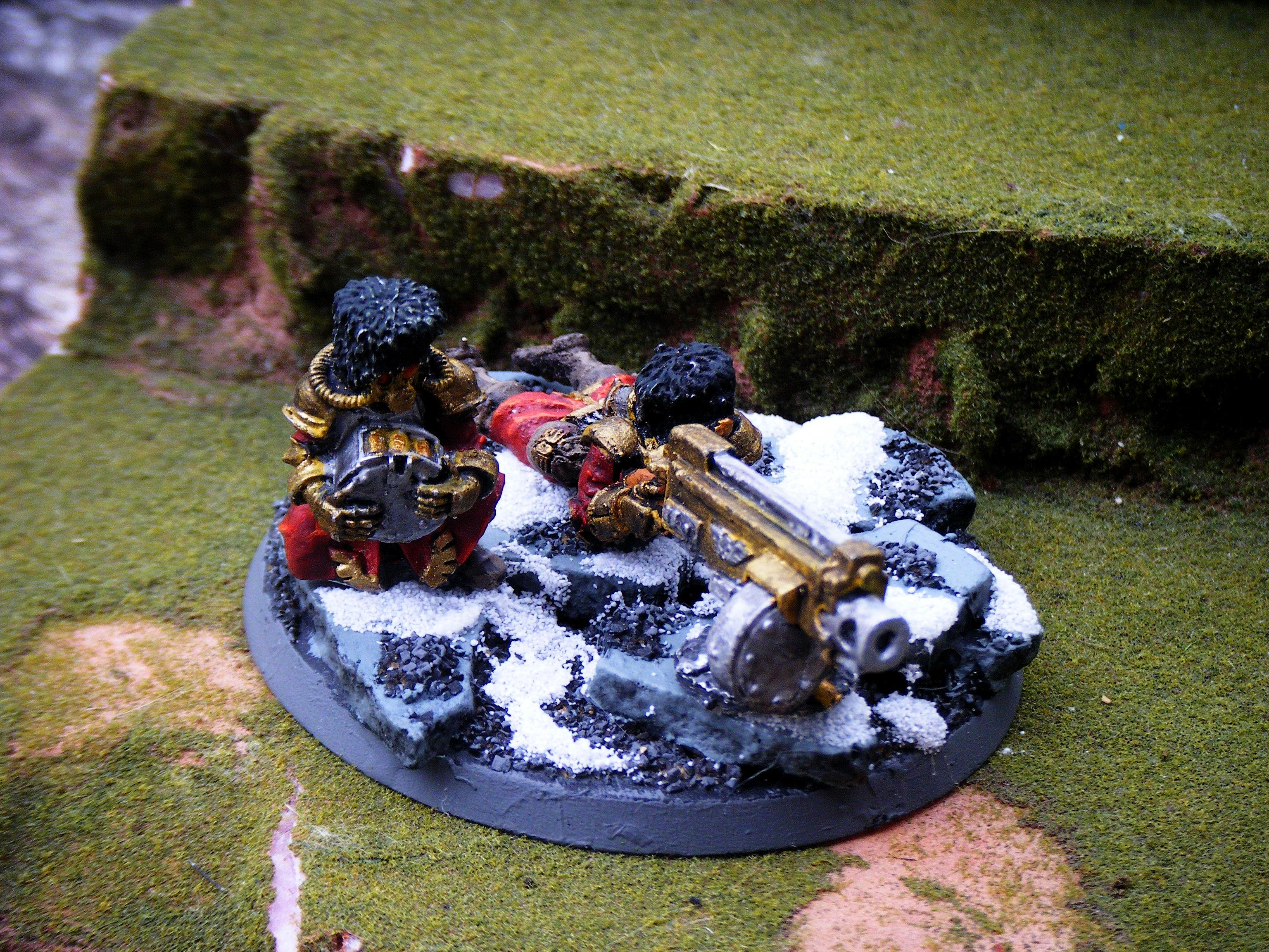 Imperial Guard, heavy bolter team 1