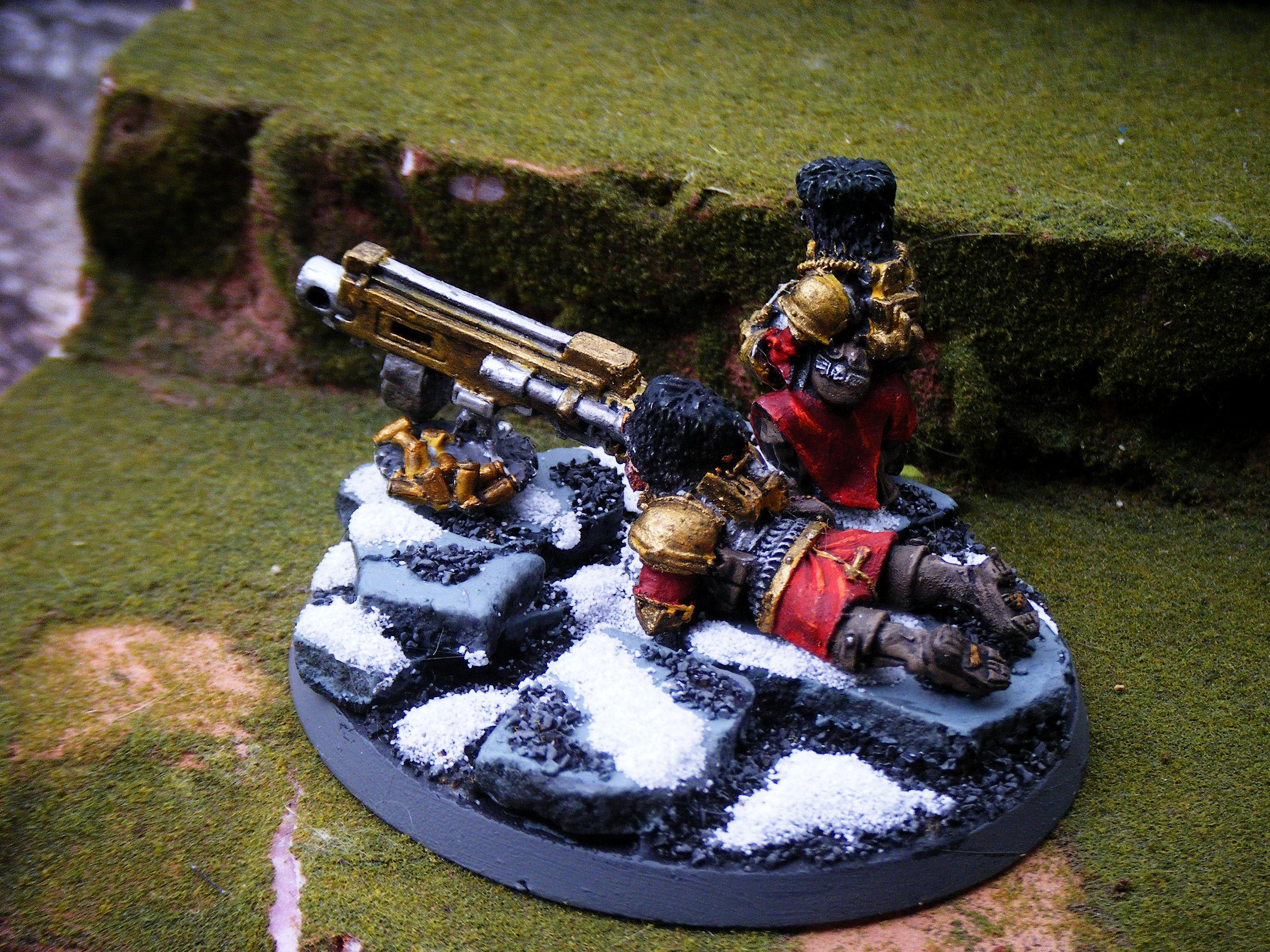 Imperial Guard, heavy bolter team 1 back