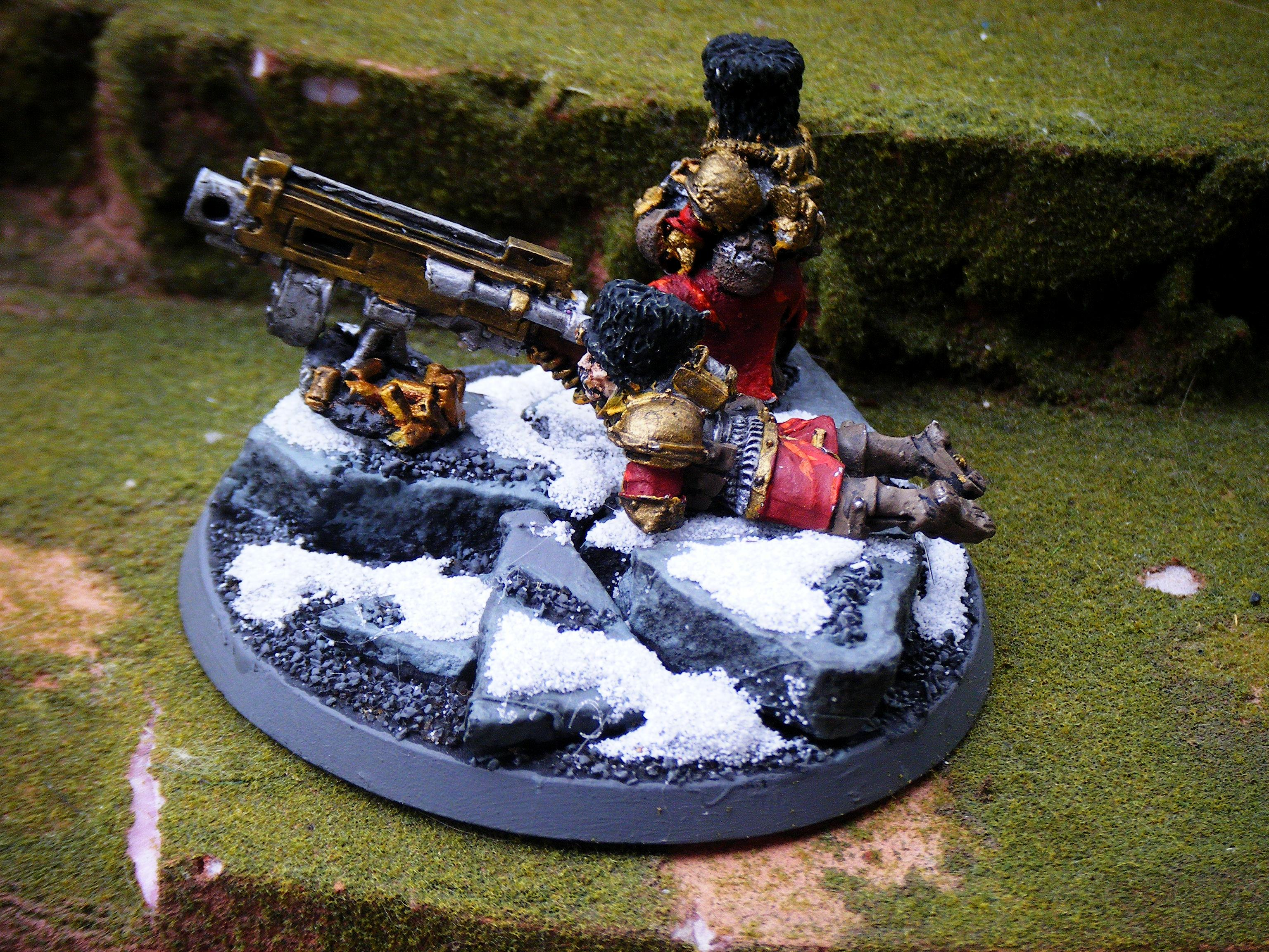 Imperial Guard, heavy bolter team 2 back