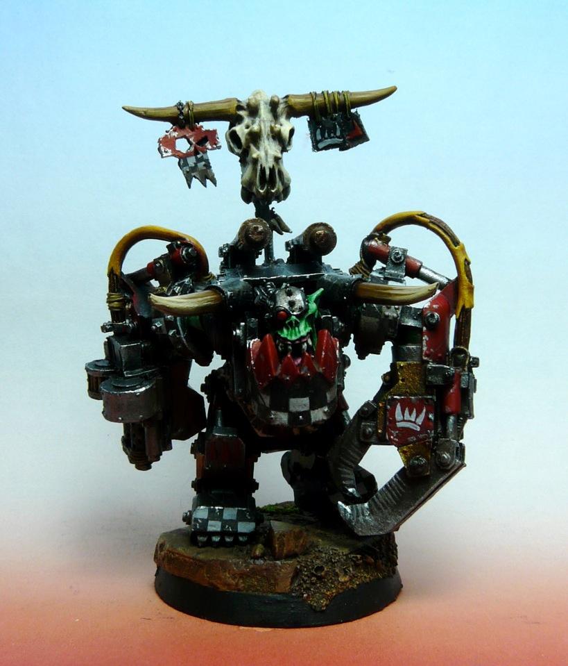 'eavy Metal, Ghazkhull, Mag, Mega Armor, Orks, Painted, Thraka, Uruk, Warboss