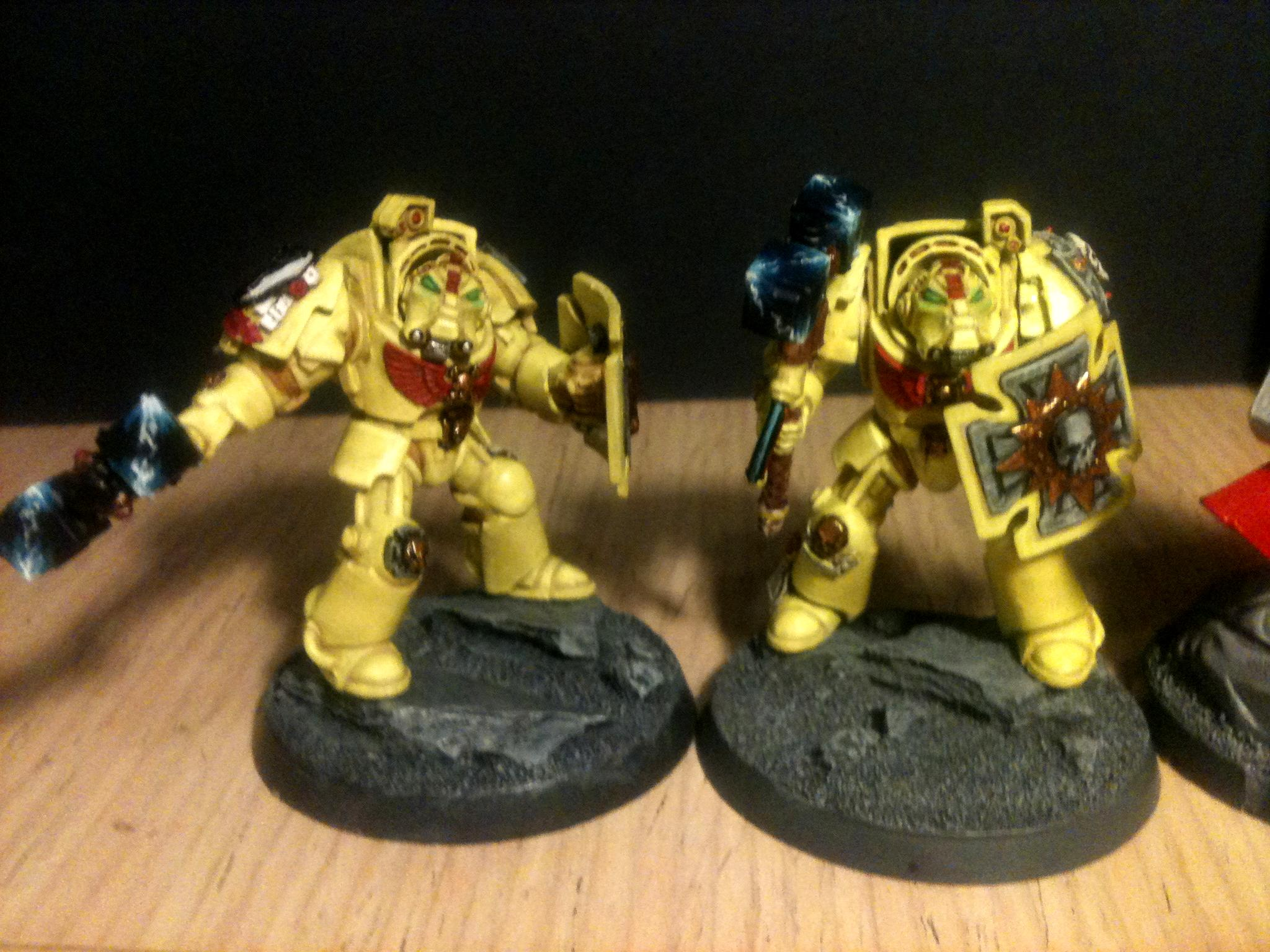Imperial Fists, Imperial Fist terminators with Thunder Hammers