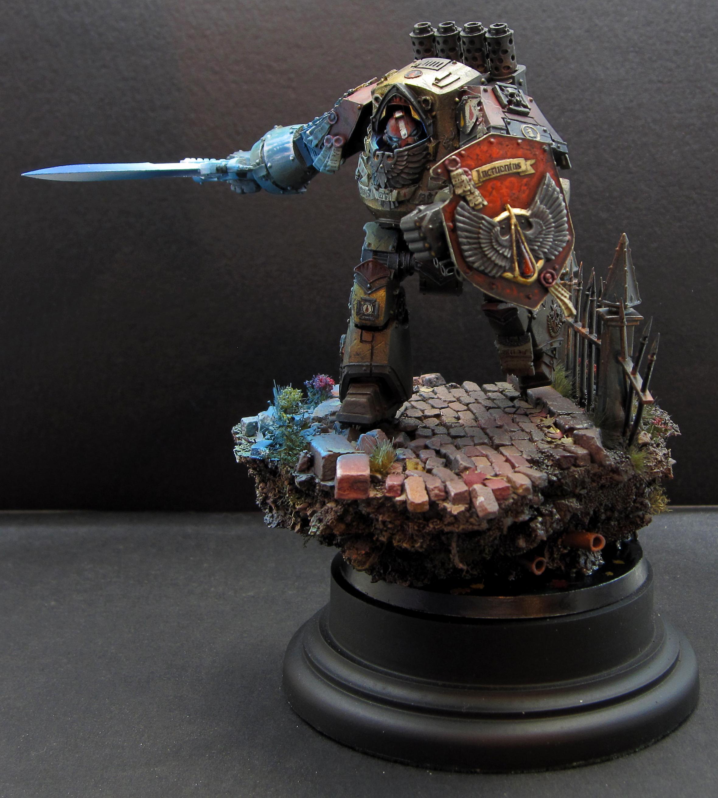Blood Angels, Contemptor, Diorama, Display, Dreadnaought, Dreadnought, Warhammer 40,000