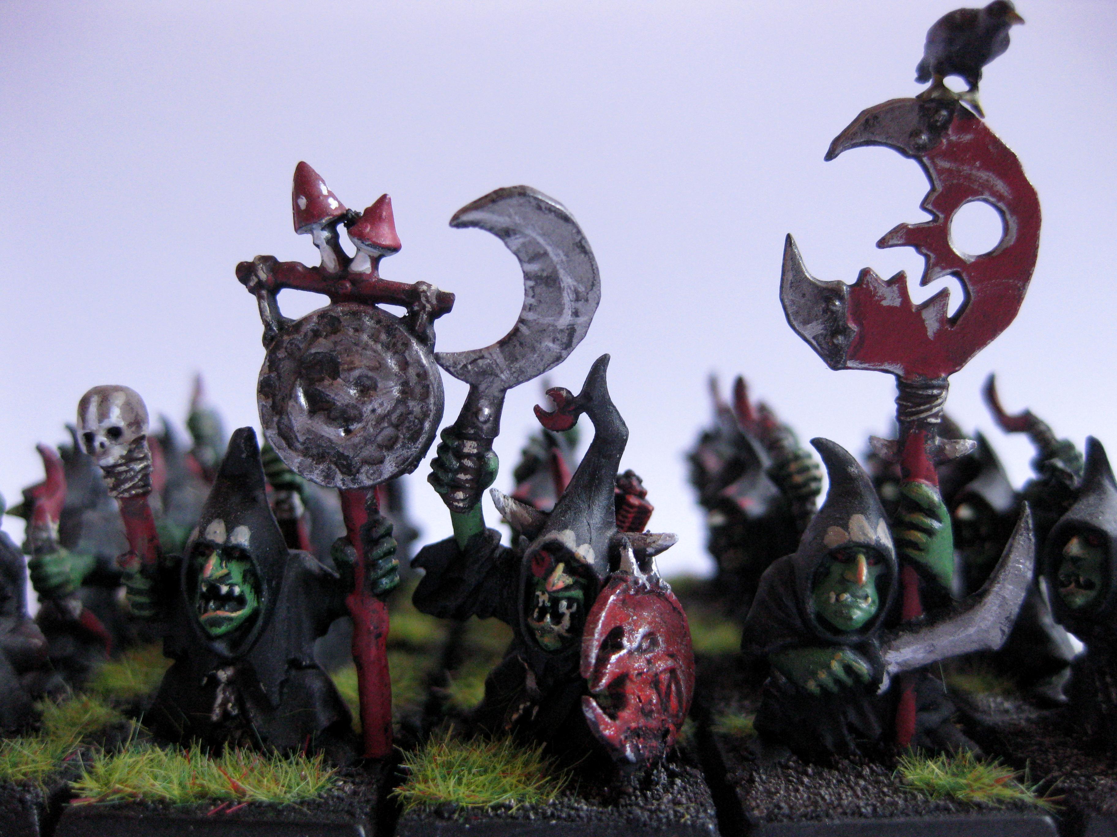 Archers, Bearer, Boss, Command, Goblins, Group, Musician, Night, Standard, Warhammer Fantasy