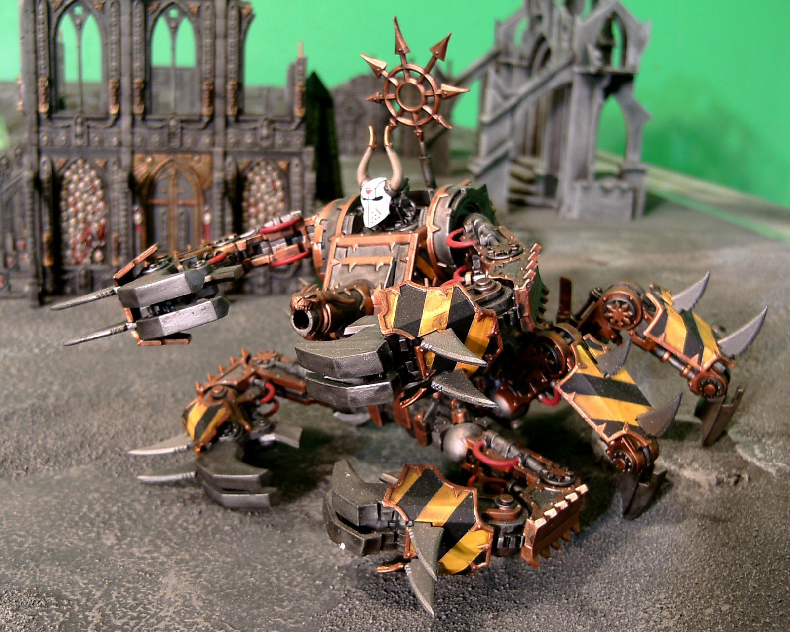 Chaos, Chaos Space Marines, Defiler, Hazard Stripe, Iron Marauders, Iron Warriors, Ouze, Walker, Warhammer 40,000