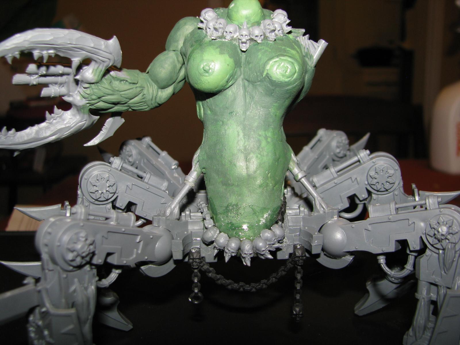 Chaos Space Marines, Daemons, Greenstuff, Scratch Build, Slaanesh, Soal Grinder, Warhammer 40,000