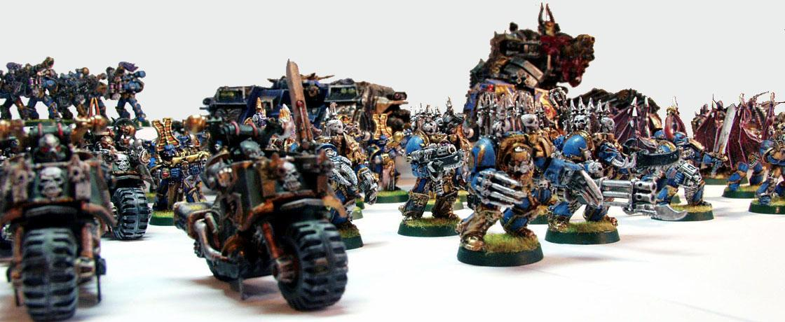 Chaos Land Raider, Chaos Space Marines, Defiler, Possessed, Thousand Sons Chosen