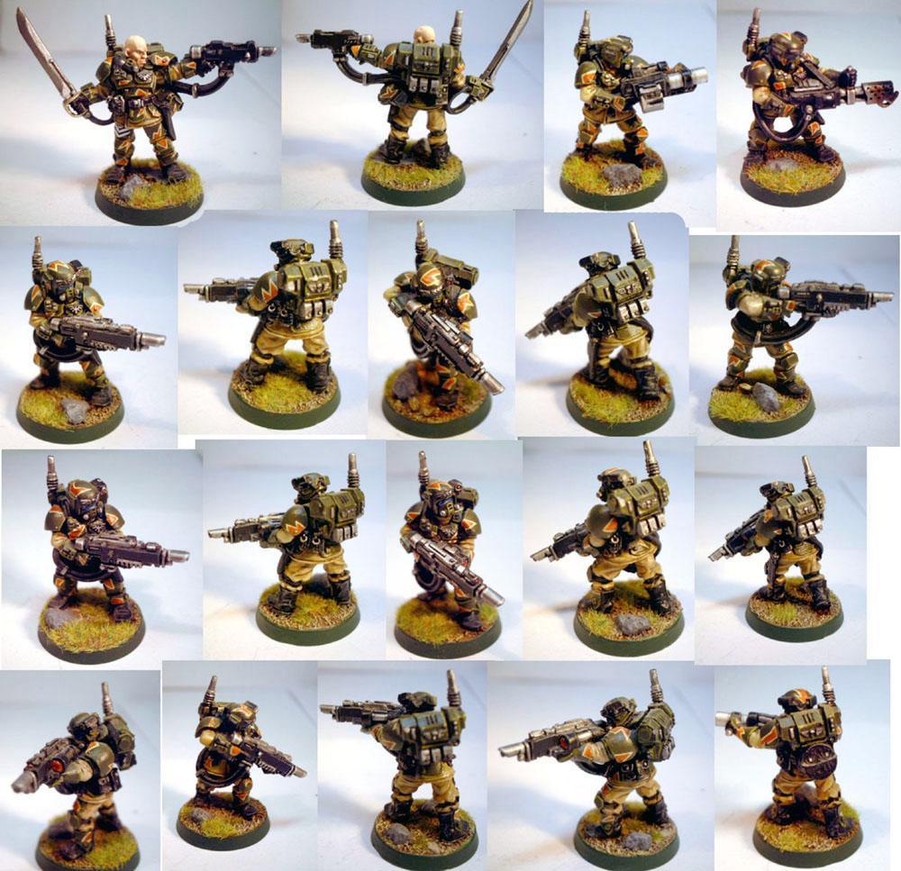 Astra Militarum, Flamer, Grenade Launcher, Imperial Guard, Infantry Squad, Kasrkin