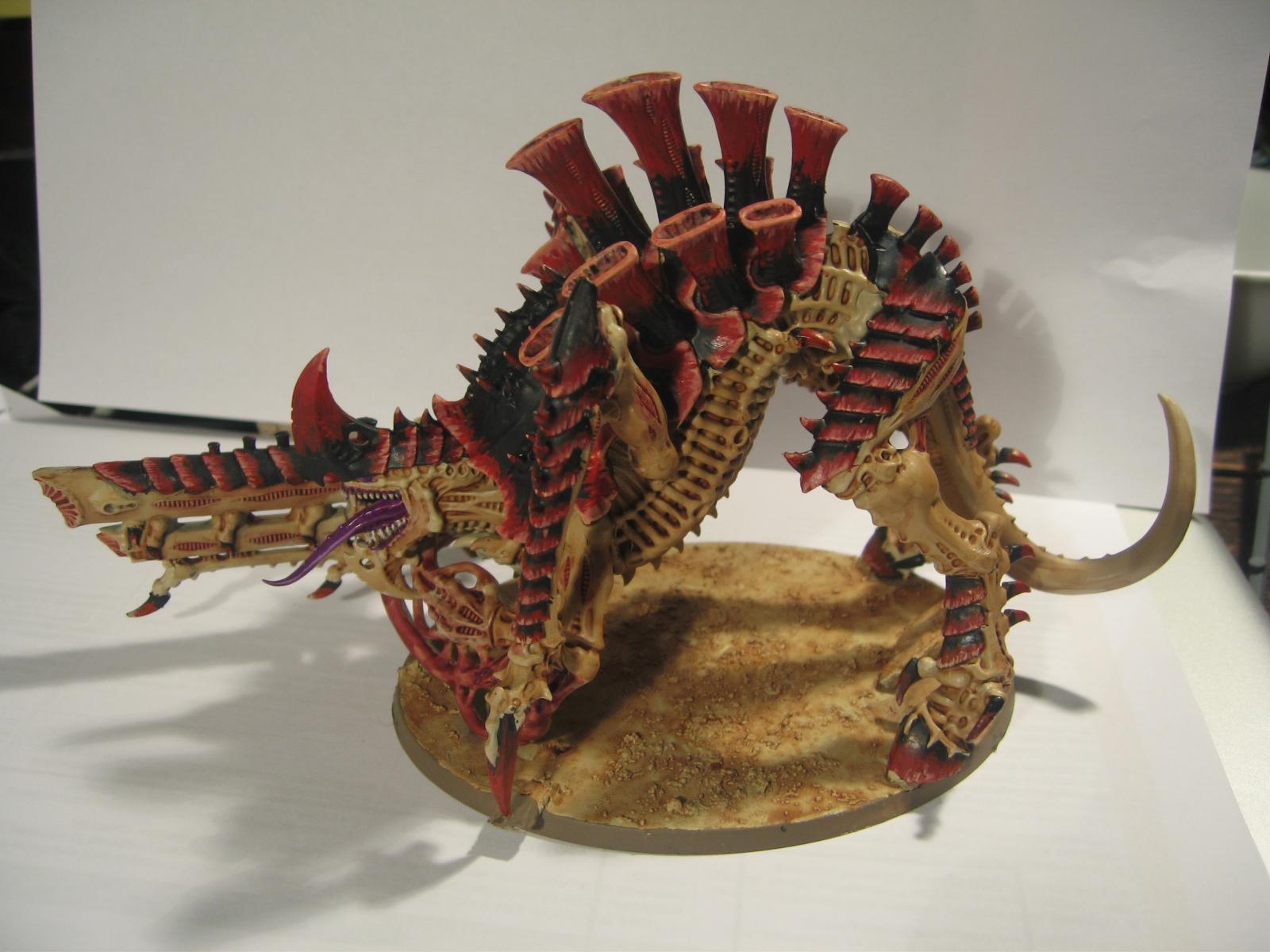 Feathering, Hivefleet Kraken, Ink, Red, Spray, The Army Painter, Tyranids, Tyrannofex, Yellow