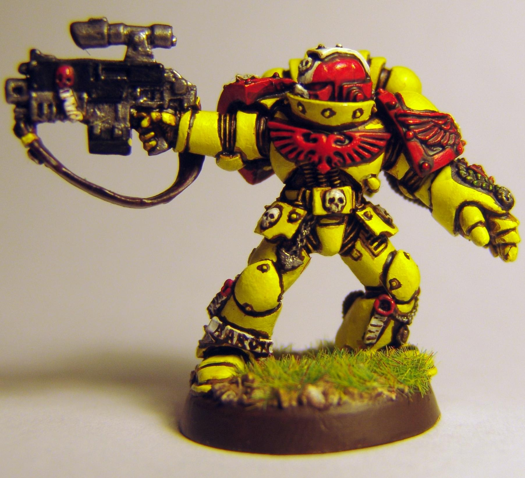 Imperial Fists, Power Fist, Sargeant, Space Marines, Sternguard, Warhammer 40,000