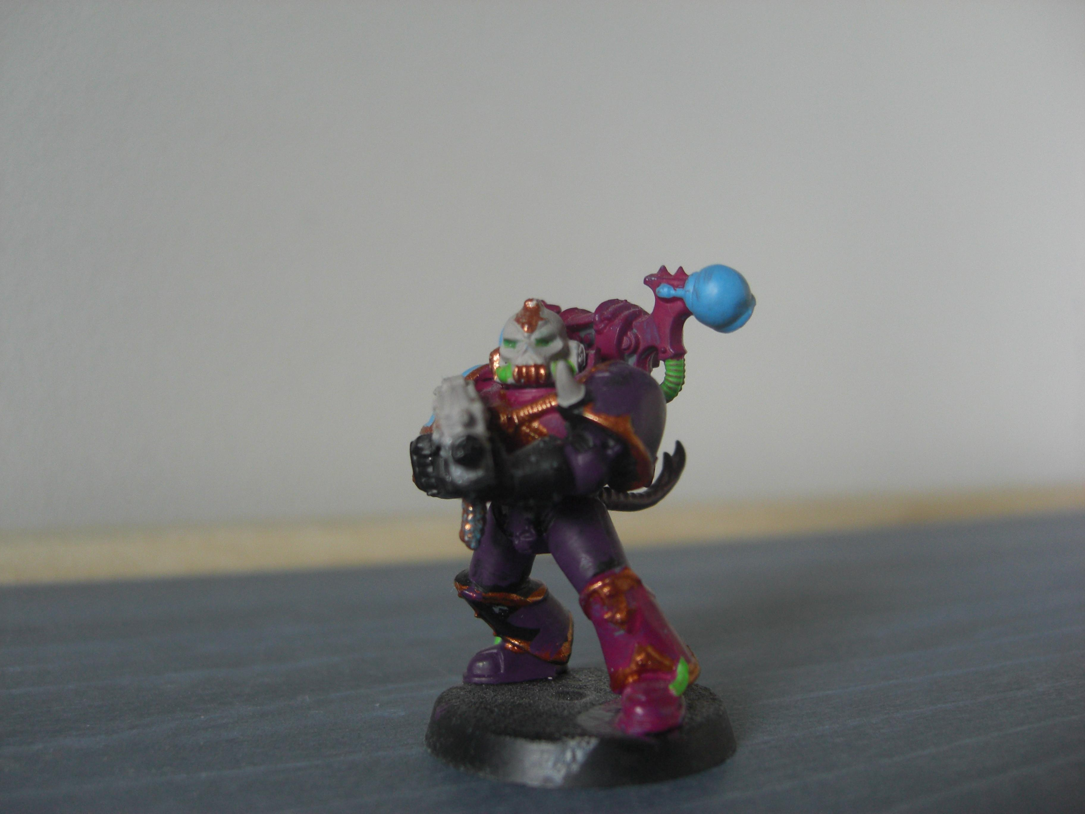 A traitor marine of The Heralds of Excess