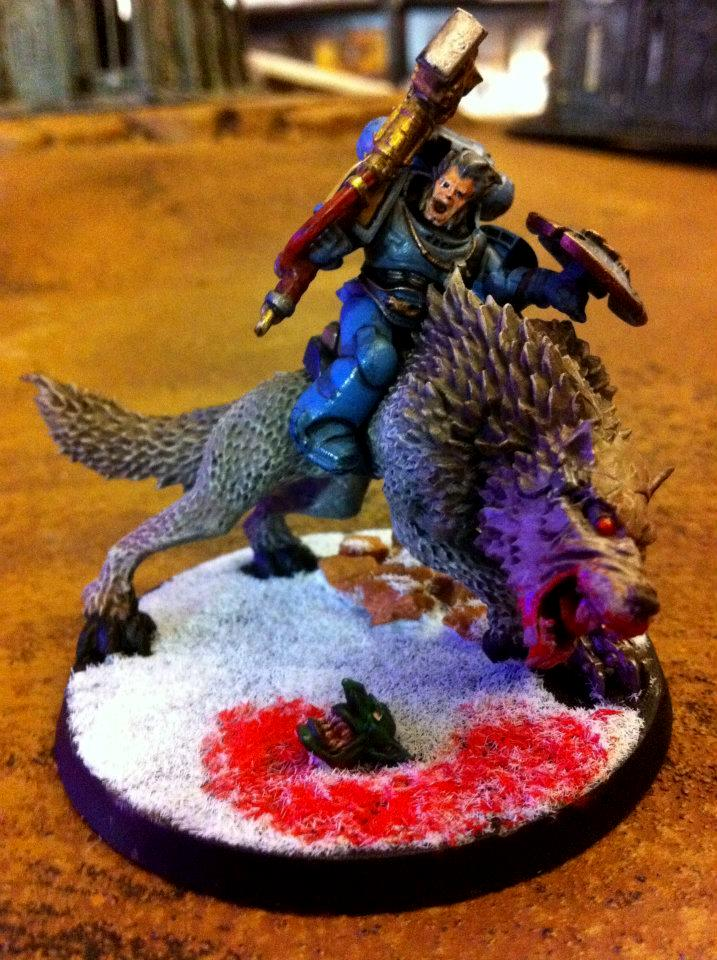 Fur, Snow, Space Marines, Space Wolves, Storm Shield, Thunderwolf, Warhammer 40,000