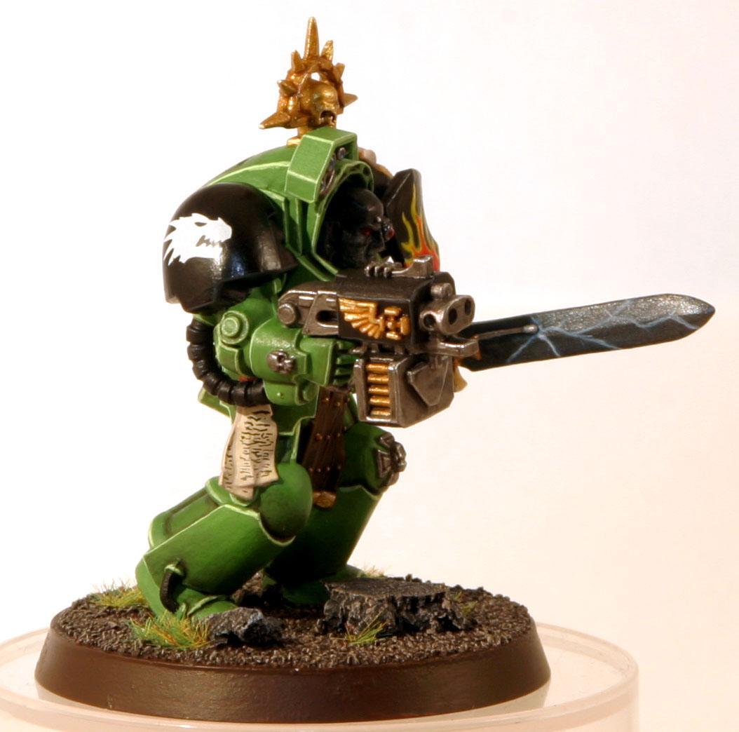 Salamanders, Sergeant, Space Marines, Tactical Dreadnought Armour, Terminator Armor, Terminator Sergeant, Warhammer 40,000