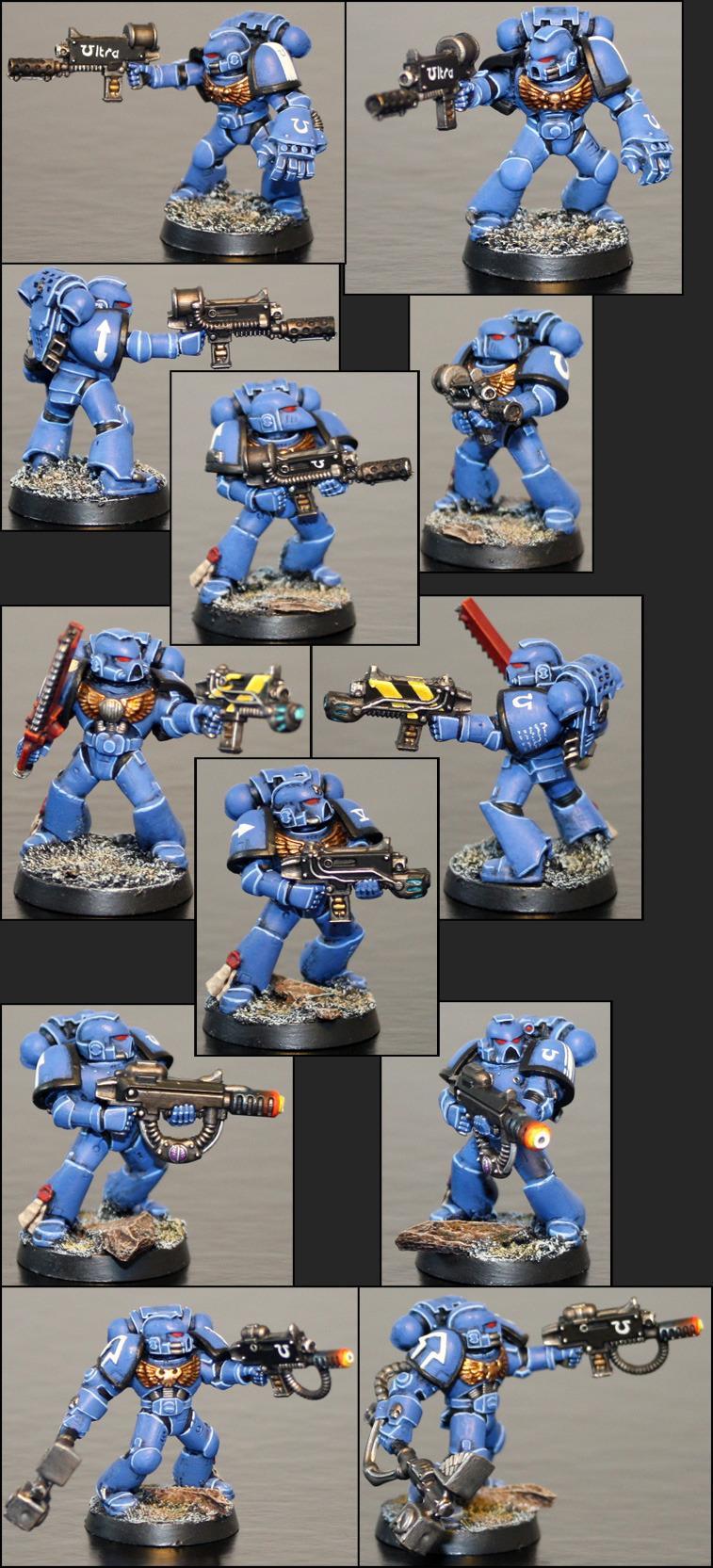 40 000, Flamer, Meltagun, Plasma, Space Marines, Special Weapons, Ultramarines, W40k, Warforge