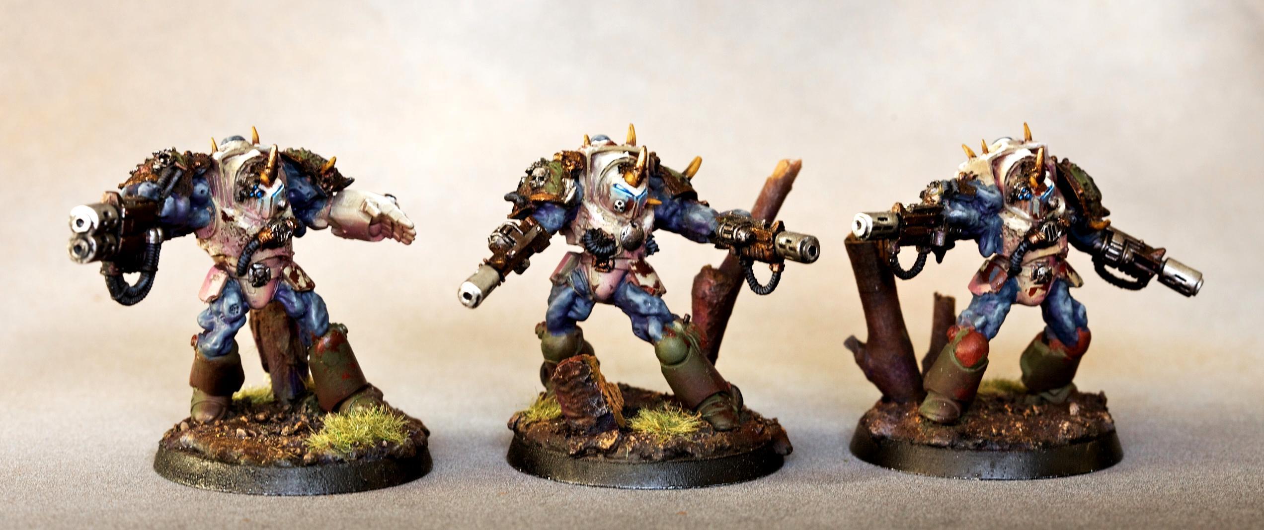 Chaos, Death Guard, Nurgle, Obliterators, Terminator Armor