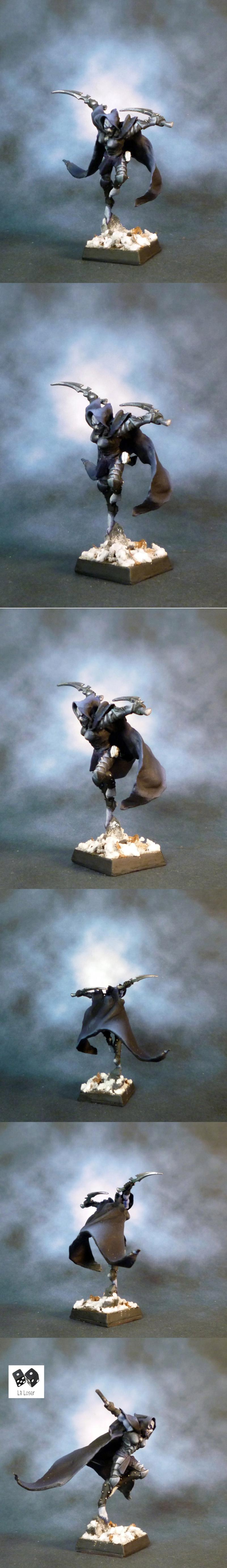 Assassin, Cloak, Conversion, Dark Eldar, Dark Elves, Naggarond, Naggaroth, Non-Metallic Metal