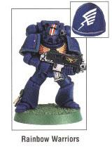 Copyright Games Workshop, Rainbow Warriors, Space Marines