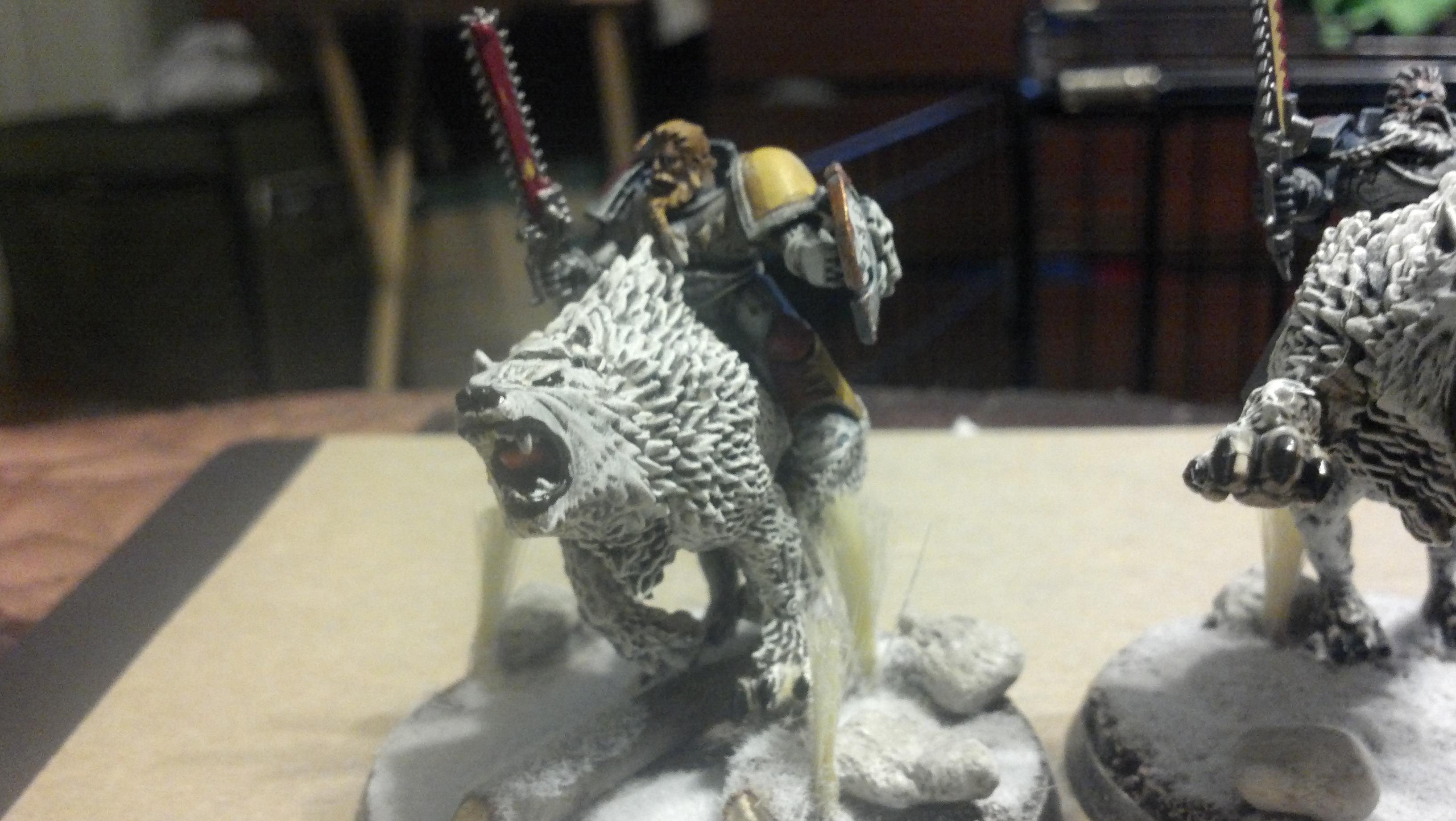 Fenris, Snow Theme, Space Wolves, Thunder Wolvf Cavelry