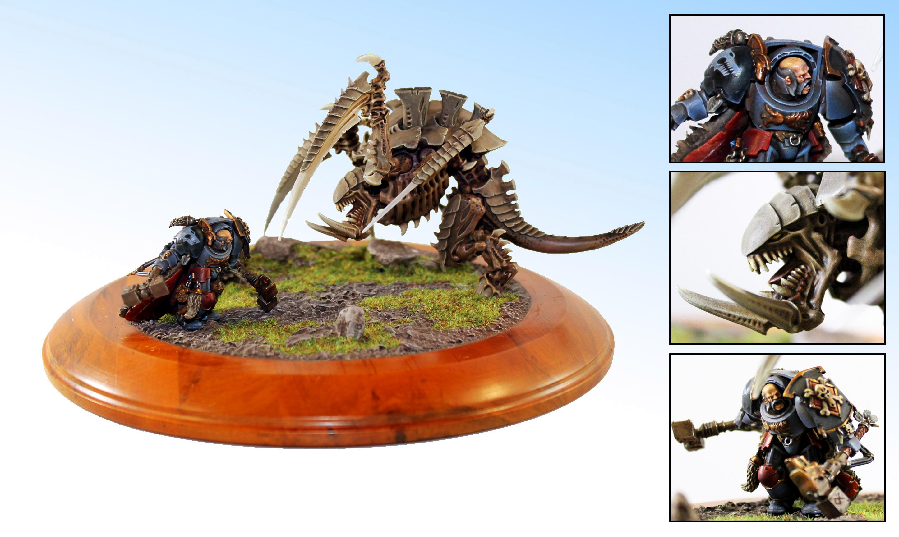 Carnifex, Duel, Space Wolves, Tyranids