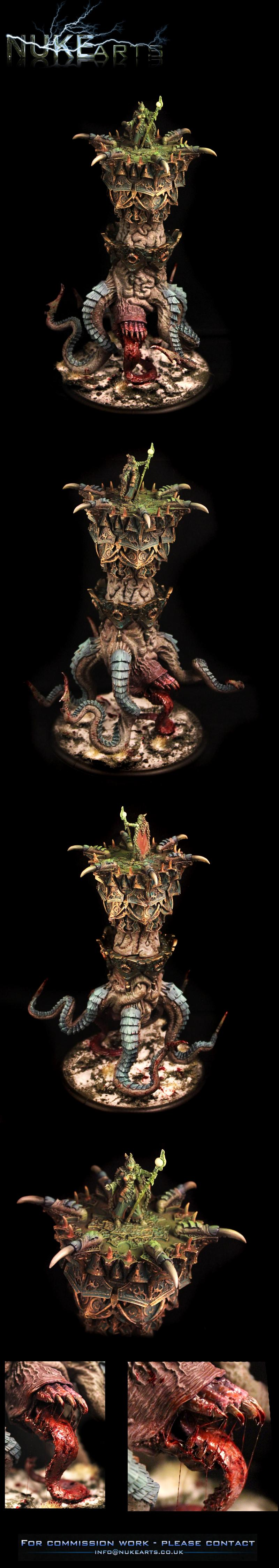 Hordes, Nuclealosaur, Nuke Arts, Painting, Privateer Press, Throne Of Everblight, Warmachine