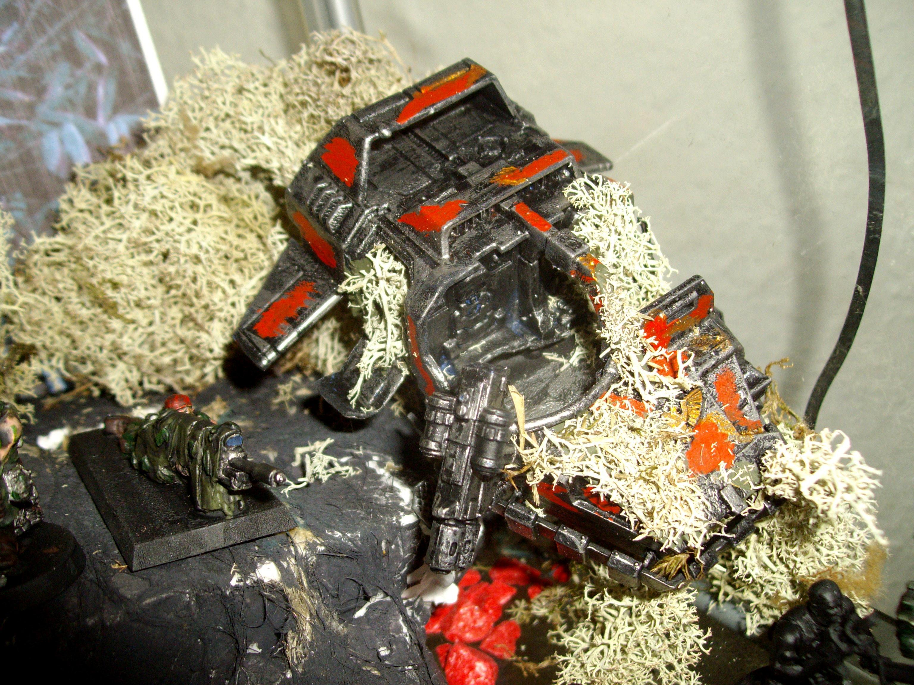 Catachan, Land Speeder, Marine Abuse, Terrain, Warhammer 40,000, Wreck