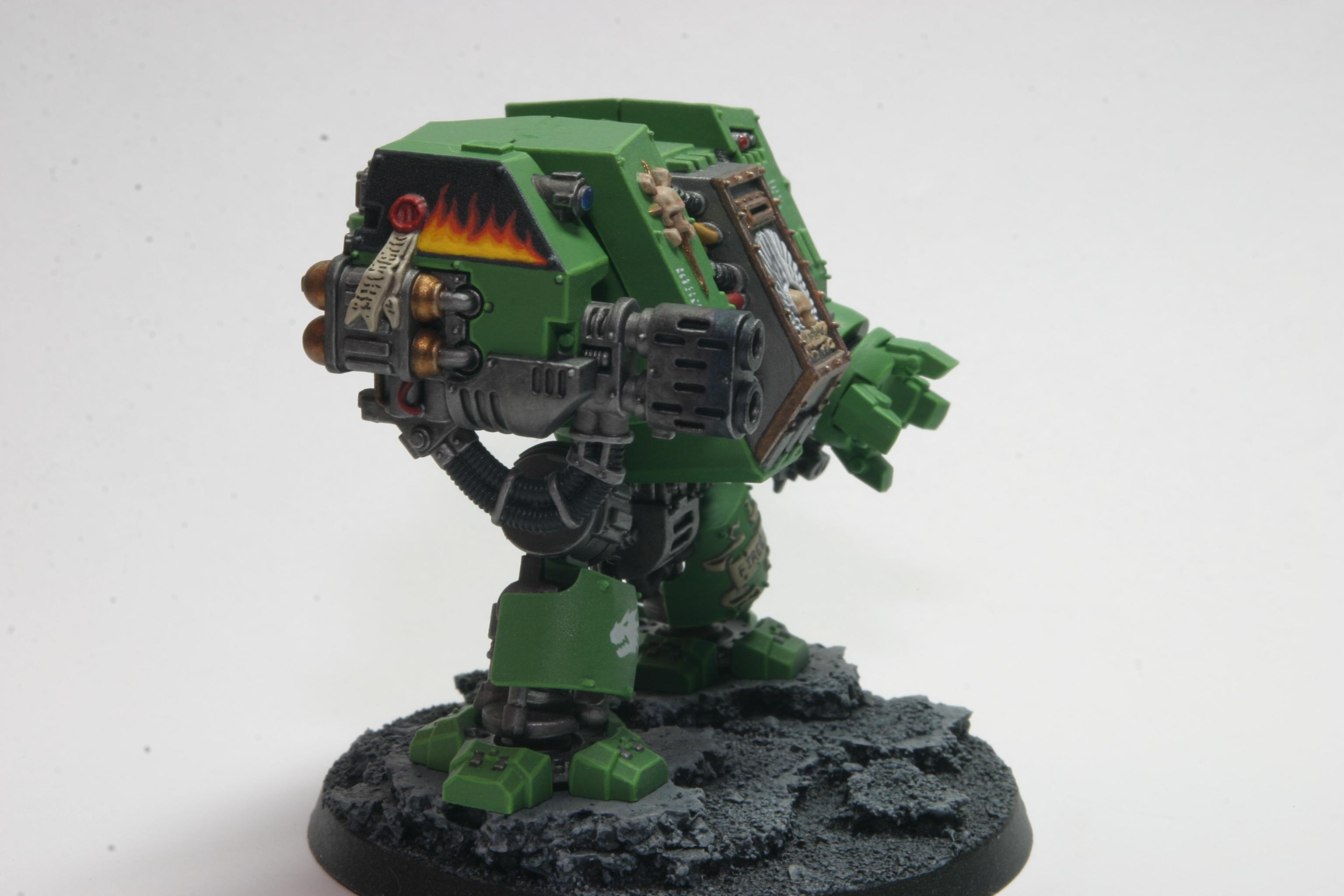 Assault On Black Reach, Dreadnought, Multi-melta, Power Fist, Right, Salamanders