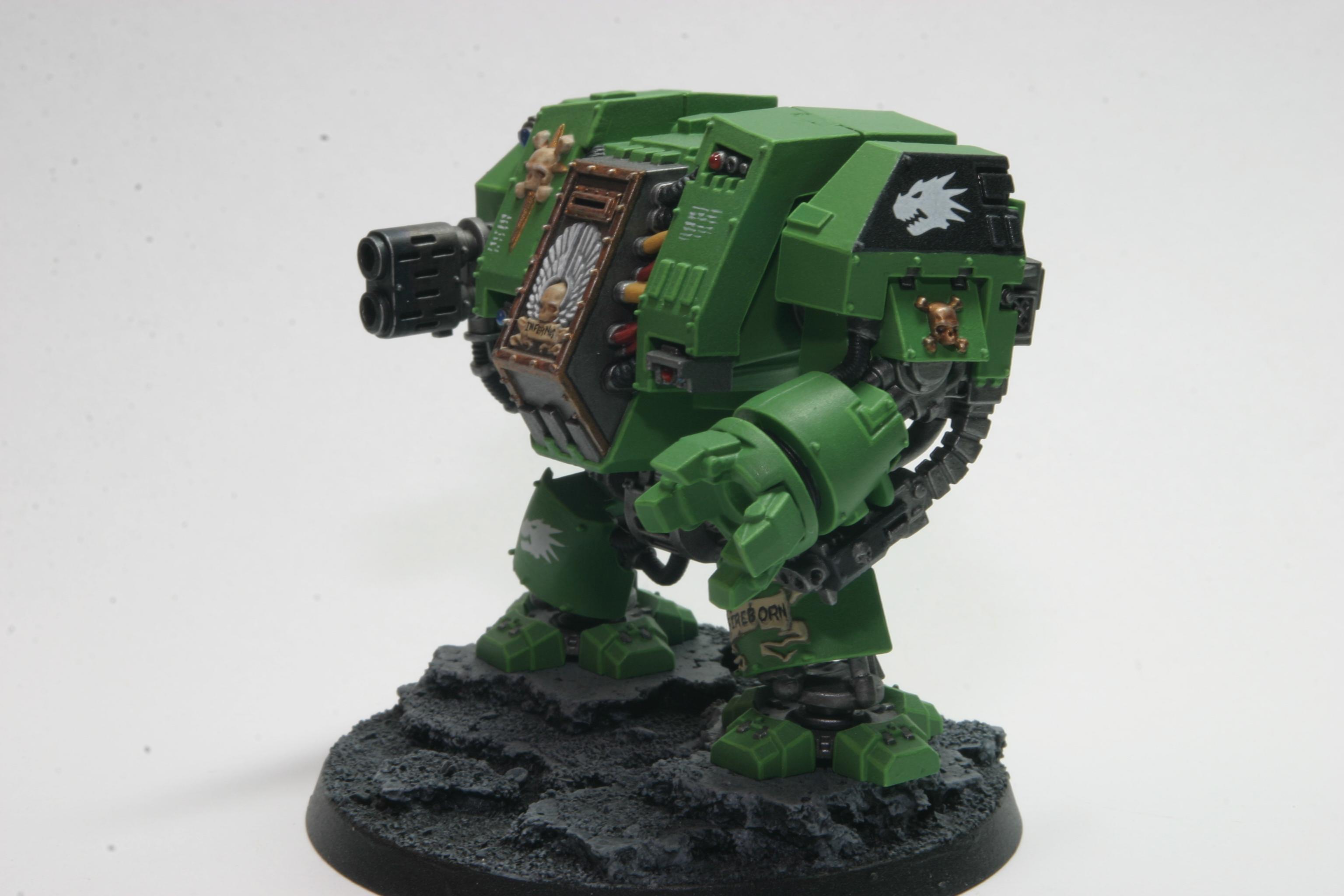 Assault On Black Reach, Dreadnought, Left, Multi-melta, Power Fist, Salamanders