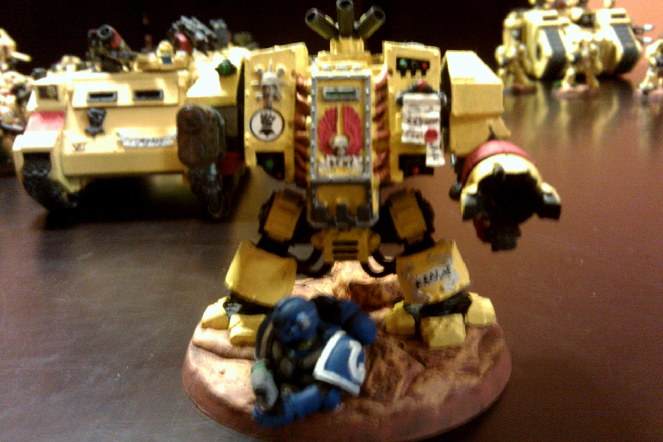 Assault On Black Reach, Body, Casualty, Corpse, Dreadnought, Space Marines, Ultramarines, Victim, Yellow
