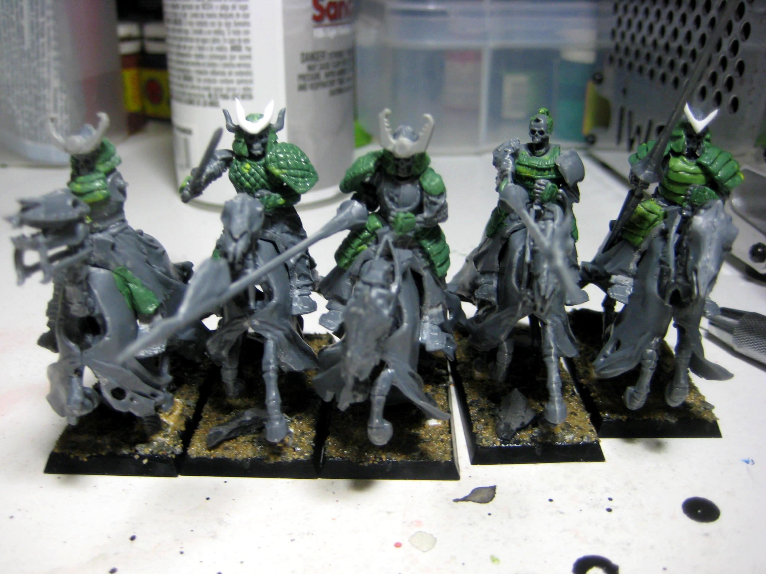 Black Knights, Calvary, Conversion, Greenstuff, Samurai, Vampire Counts, Work In Progress