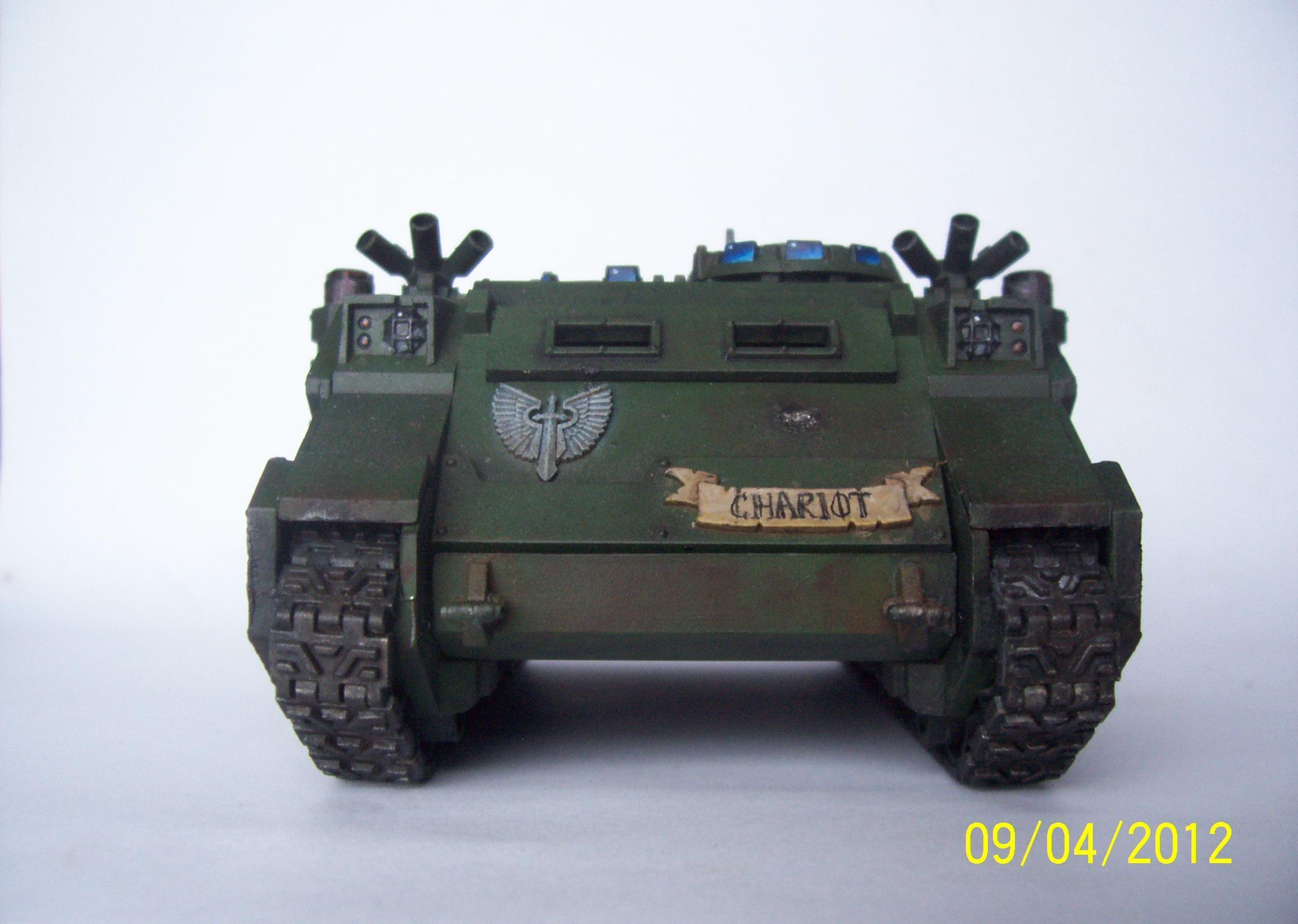 Chariot, Dark Angels, Front, Rhino, Tank
