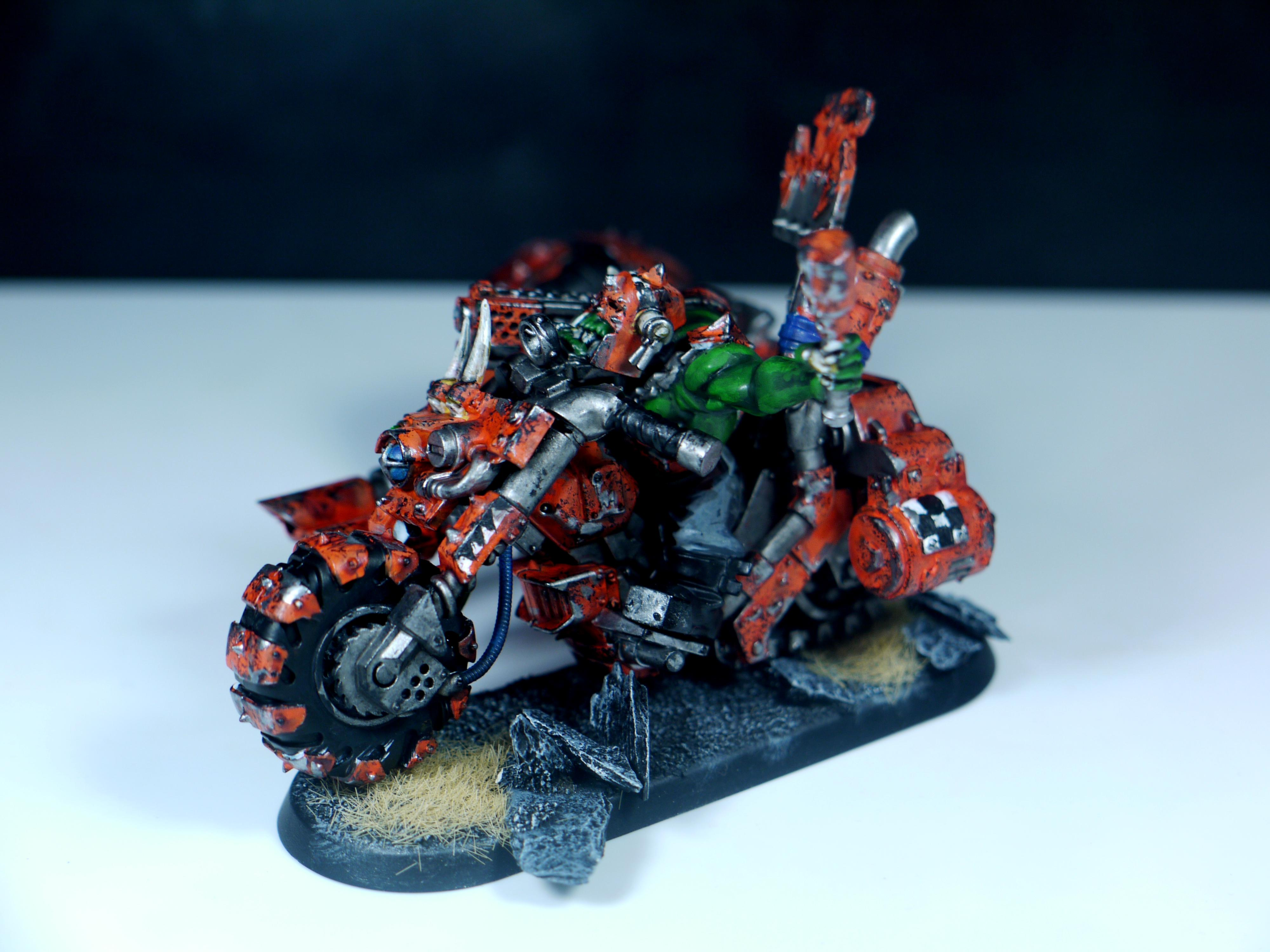 Bike, Fast, Orange, Orks, Speed