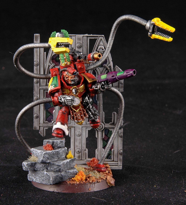 Mantis Warriors, Motf, Space Marines, Techmarine, Warhammer 40,000, Work In Progress