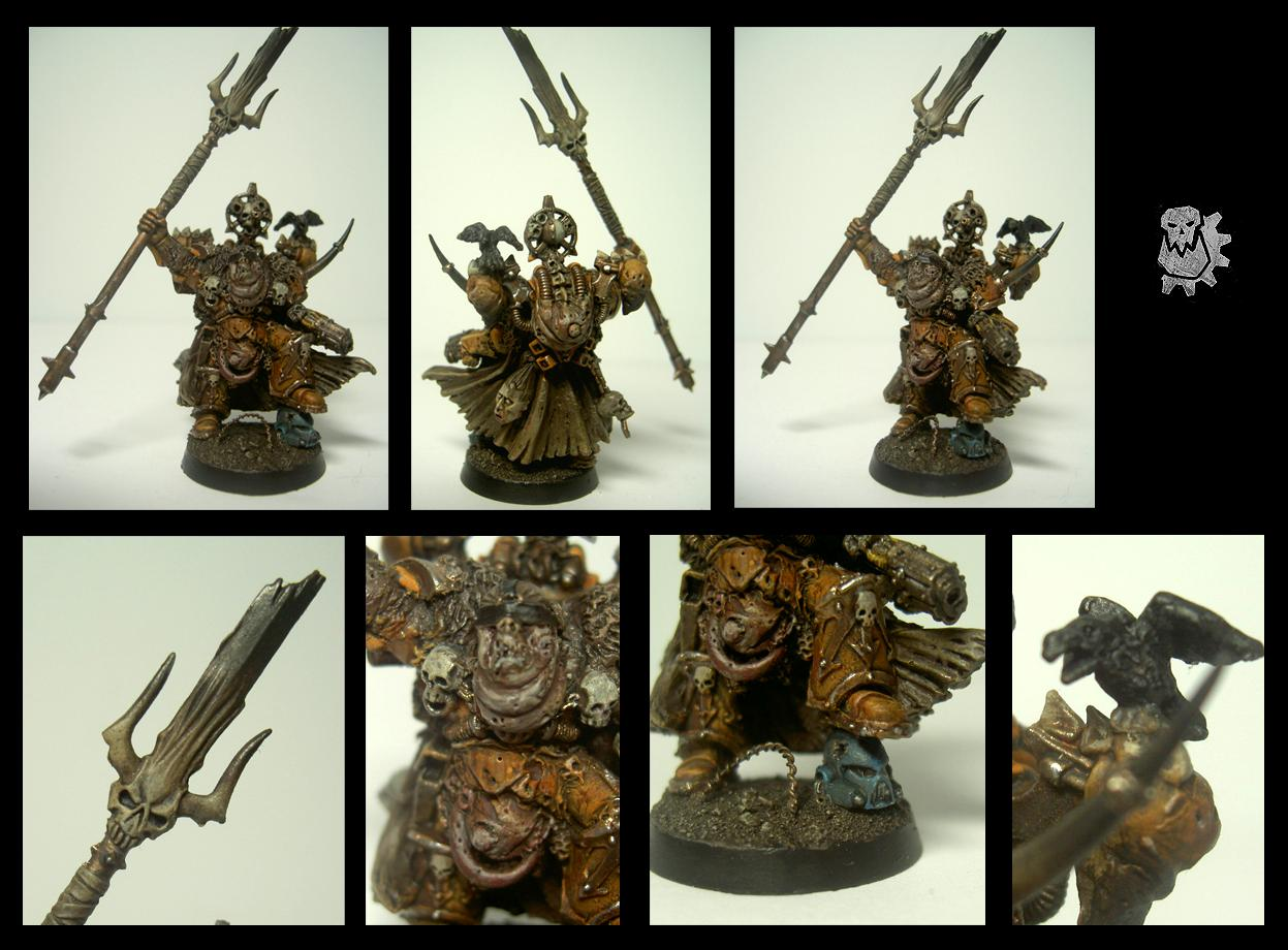 Apostles Of Contagion, Chaos Space Marines, Greenstuff, Nurgle, Sorcerer, Warhammer 40,000