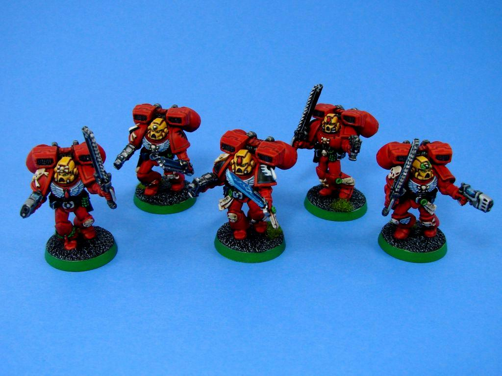 Assault Squad, Blood Angels, Hard-liners, Warhammer 40,000
