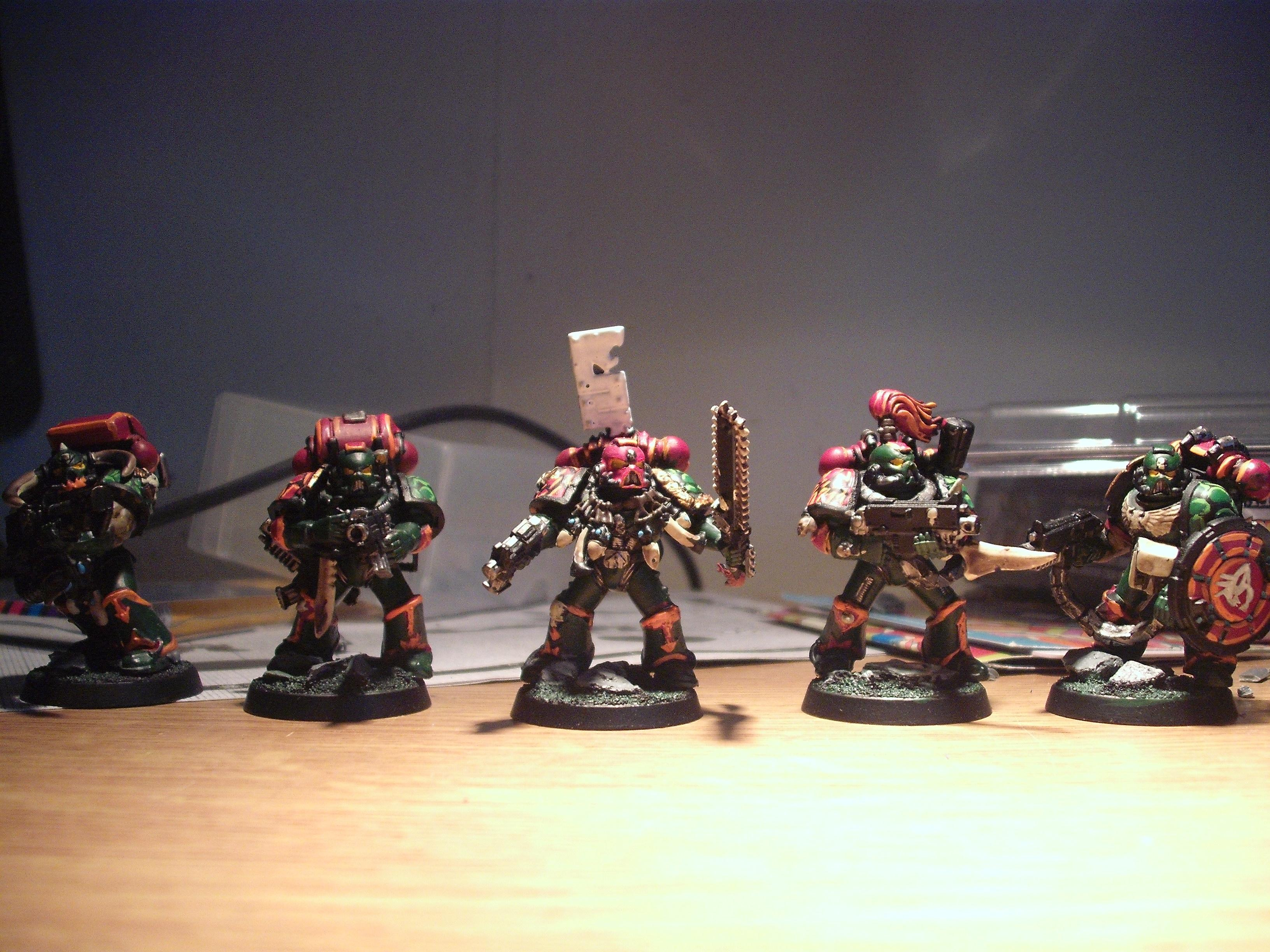 Chainsword, Counts As, Custom Shield, Flamer, Green, Heavy Back Packs, Oviraptors, Raptors, Space Marines, Specialised Boltguns, Stalker
