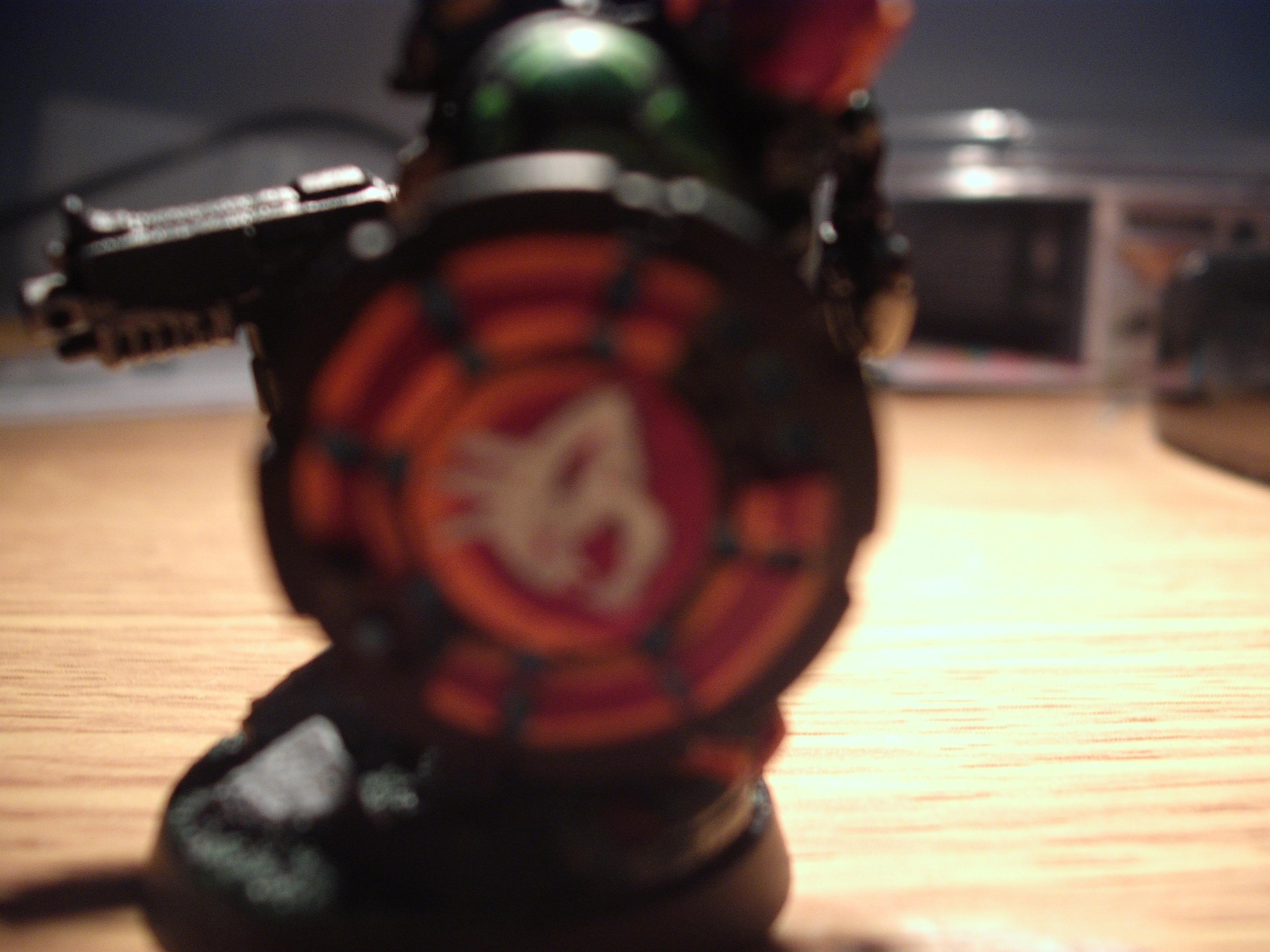 Close Up, Counts As, Custom Shield, Fuzzy Photo, Green, Raptors, Side View, Space Marines