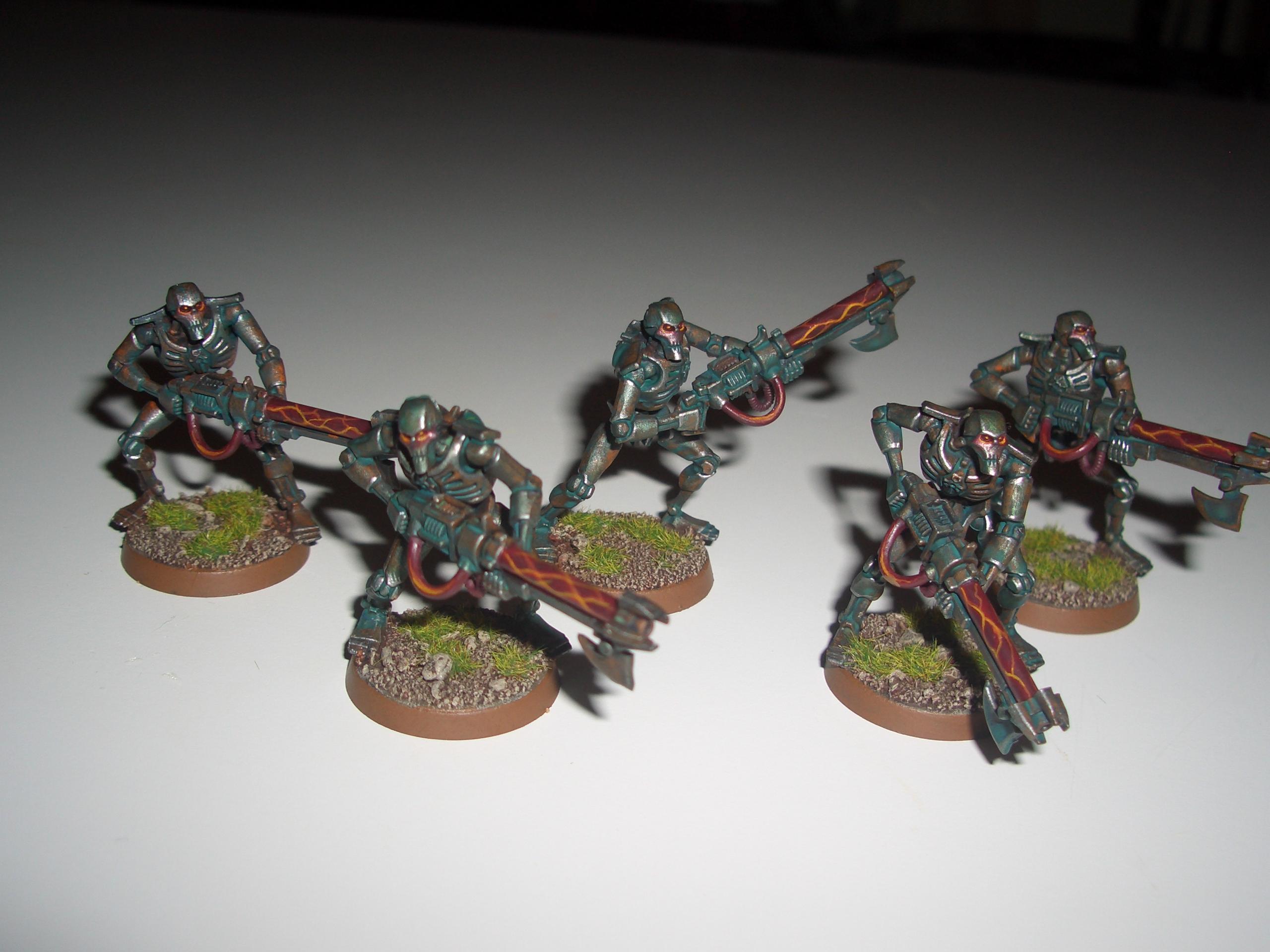 Necron Warriors, Necrons, Verdigris, Warhammer 40,000