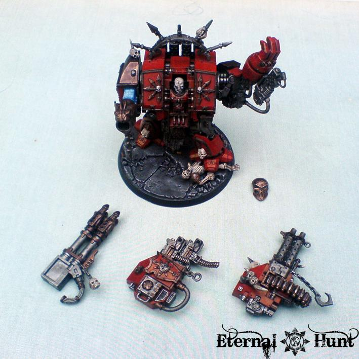 Chaos, Chaos Space Marines, Conversion, Dreadnought, Khorne, Warhammer 40,000, World Eaters