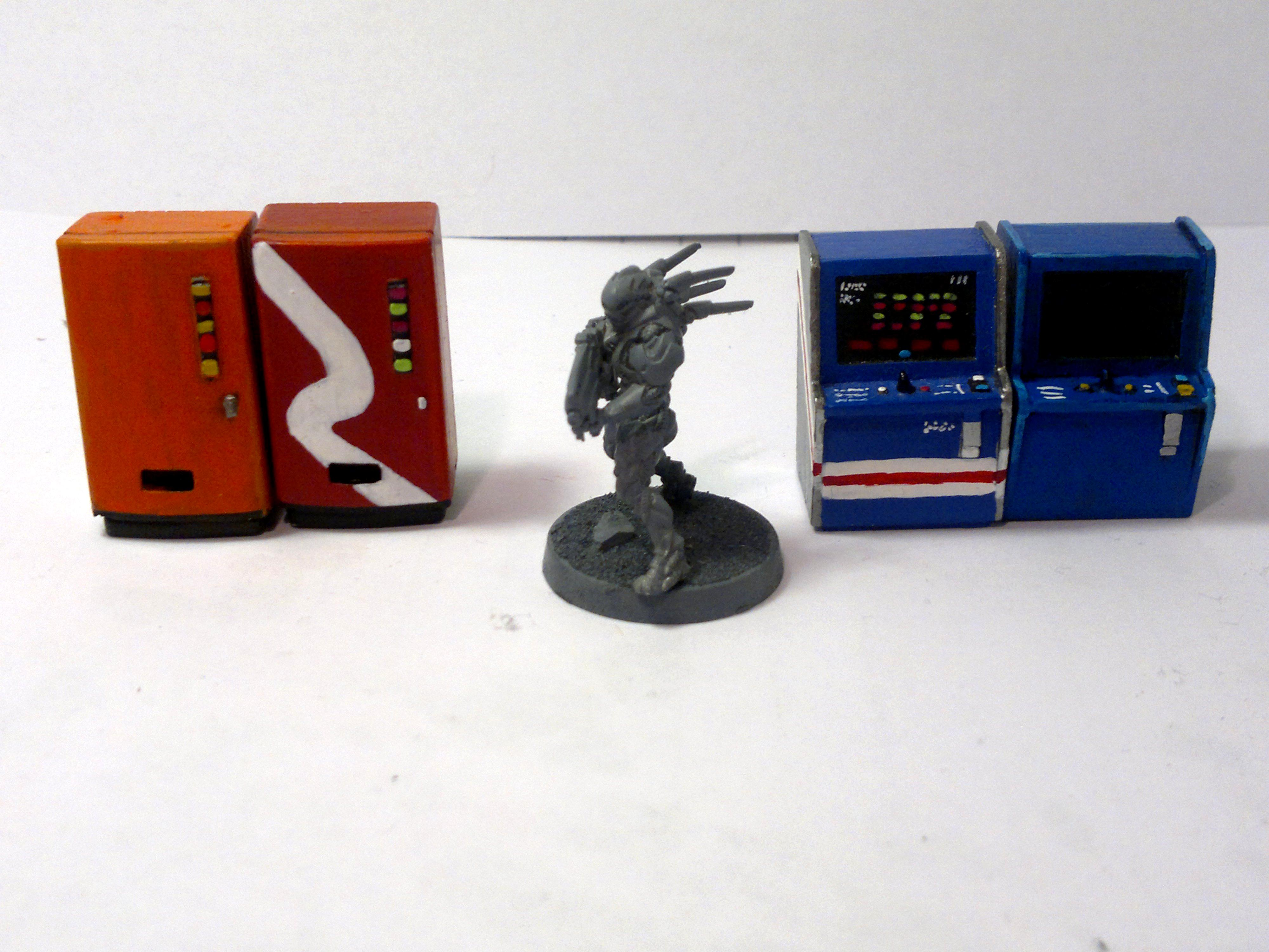 Arcade Game, Terrain, Vending Machine