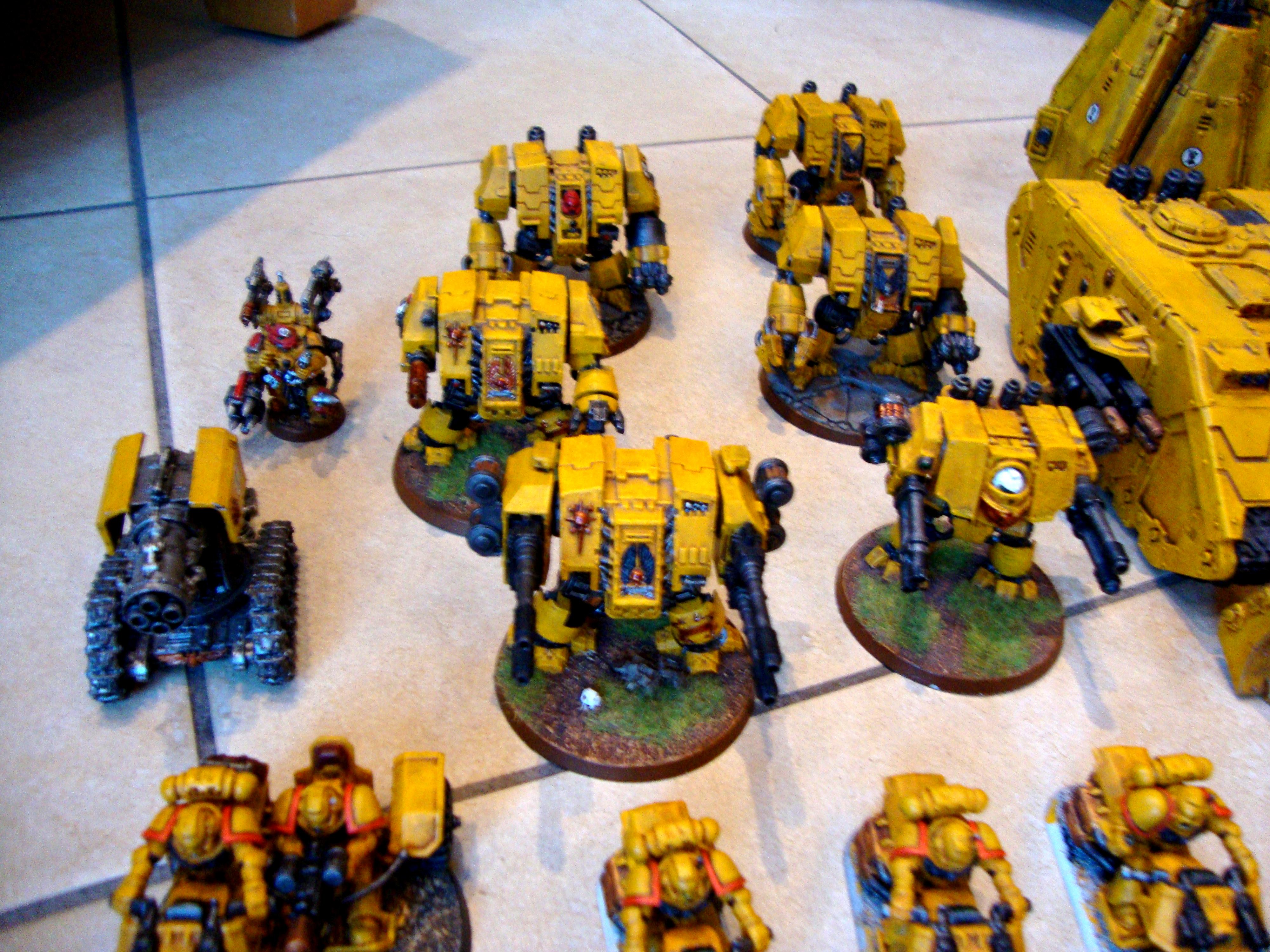 Dreadnought, Imperial Fists, Ironclad, Space Marines, Thunderfire