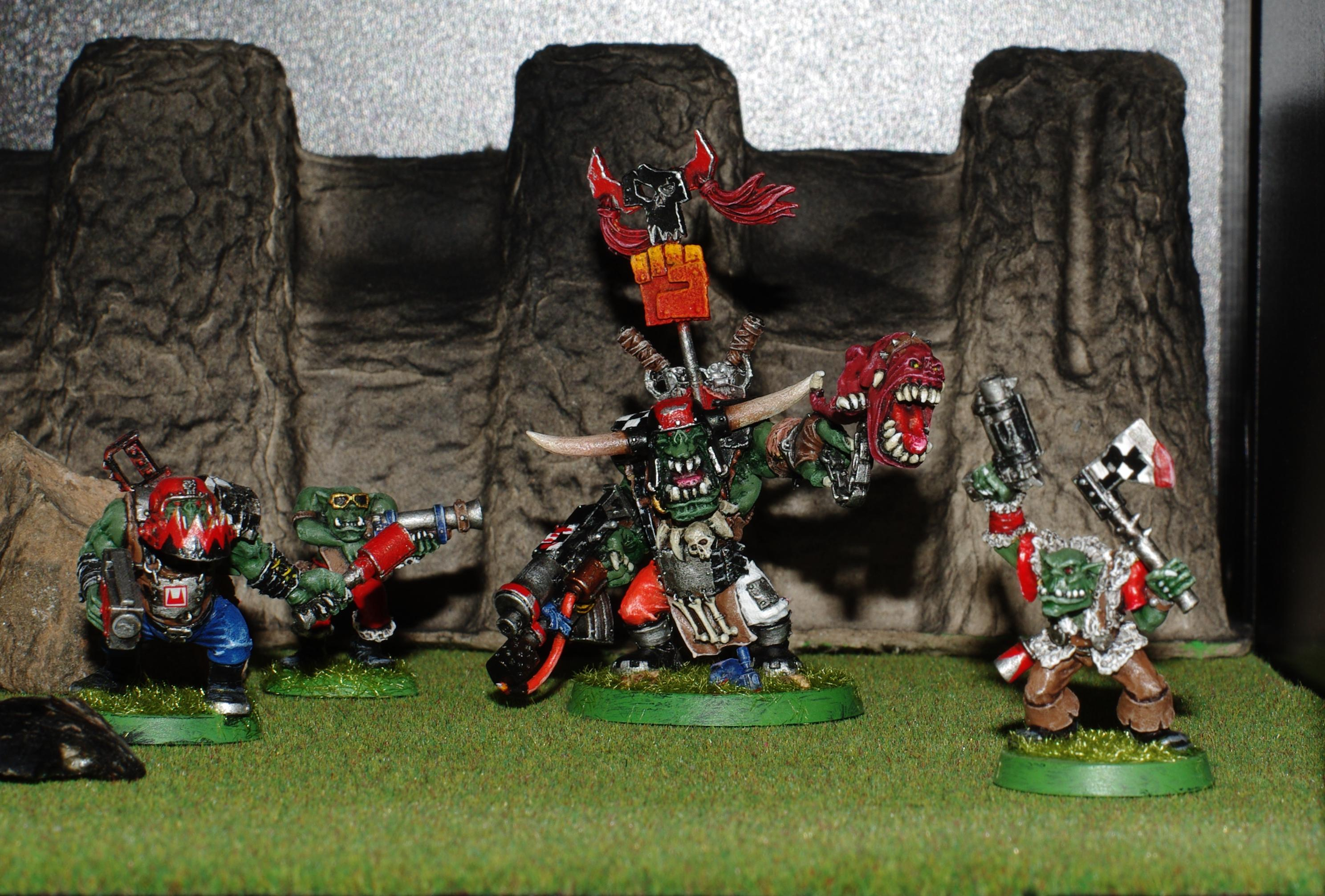 Orks, Warboss with Attack Squig